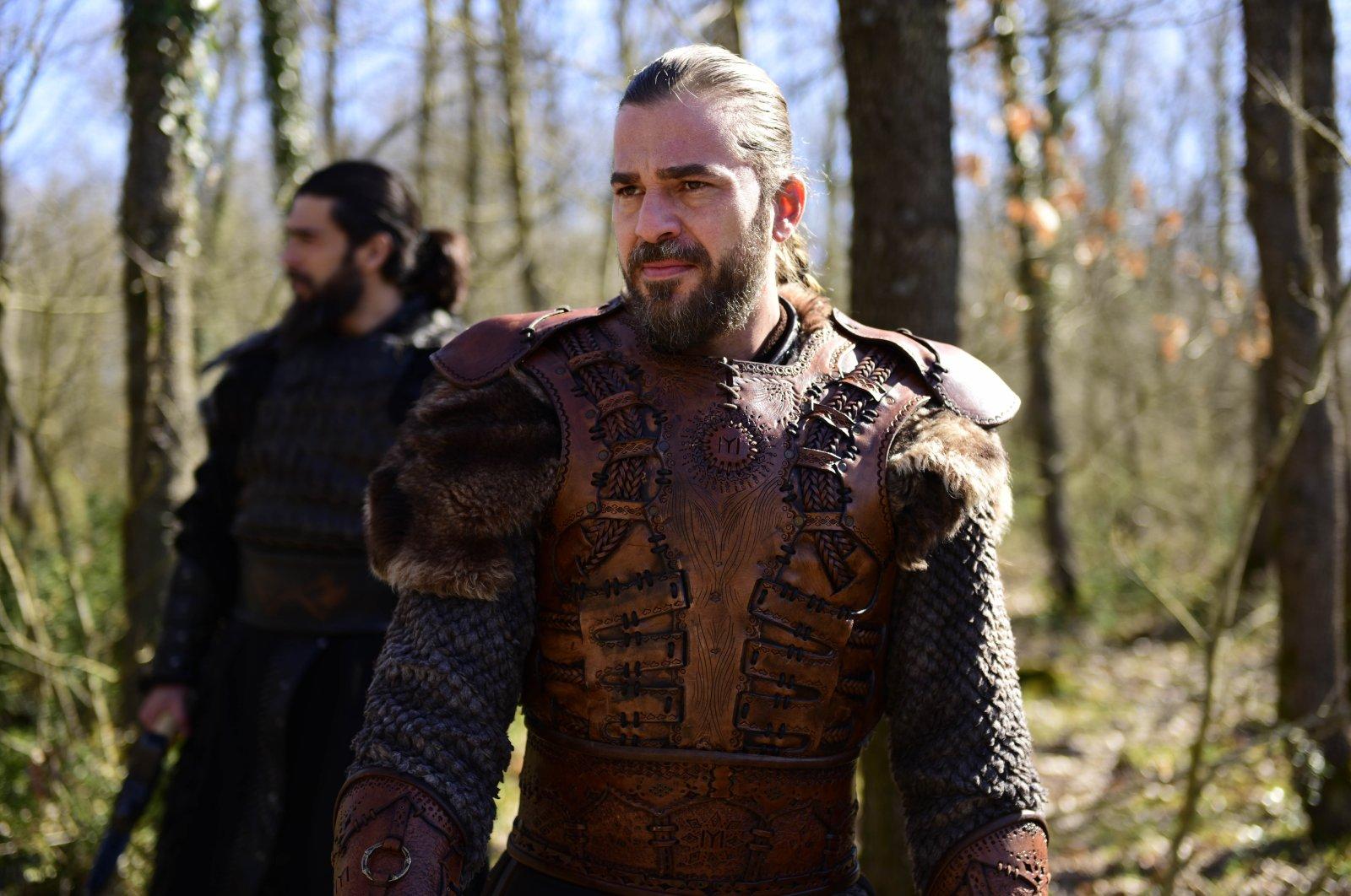"""Actor Engin Altan Düzyatan in a scene from """"Diriliş Ertuğrul"""" (""""Resurrection Ertuğrul"""")."""