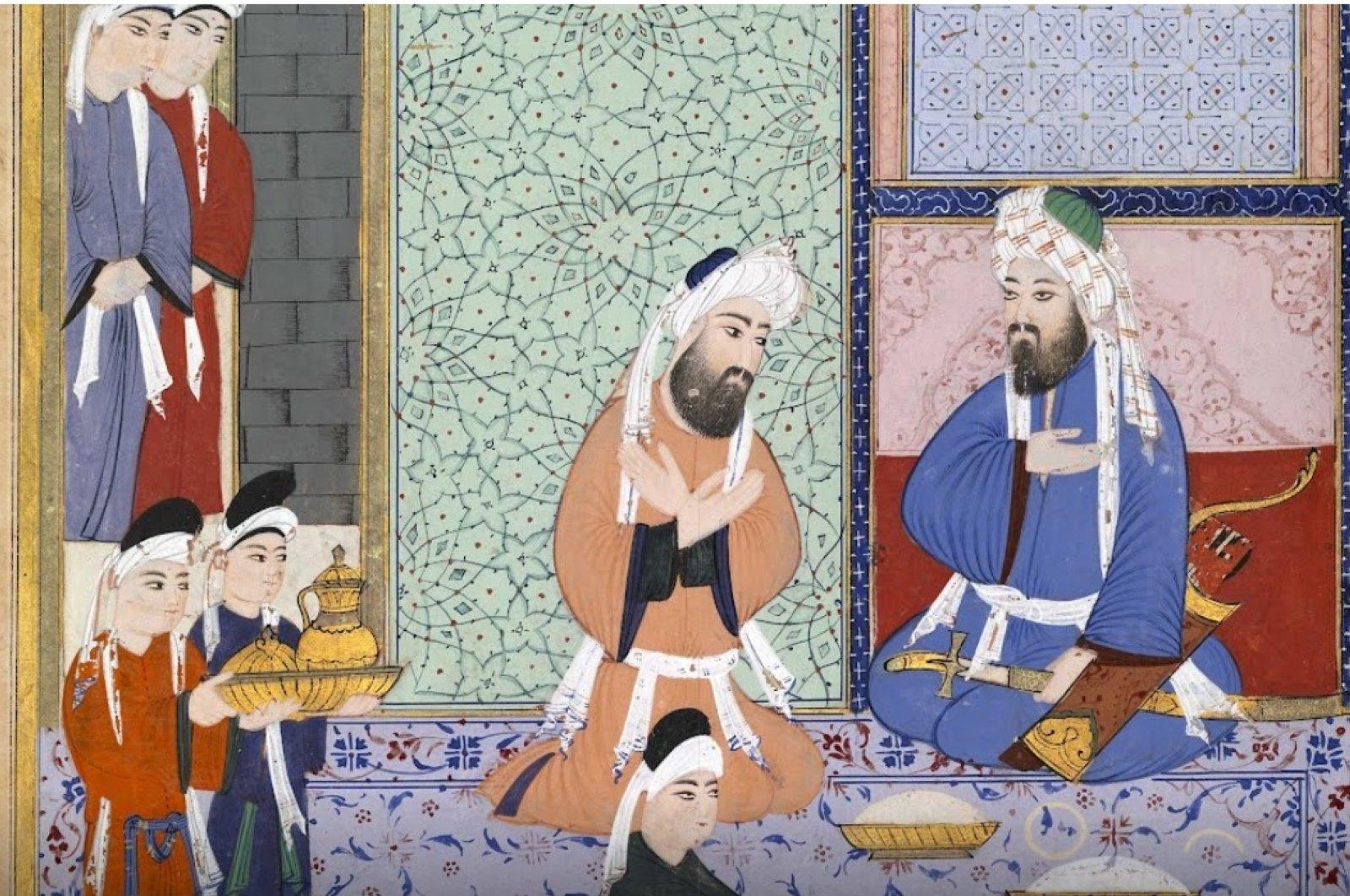 Illustration supervised by Lütfi Abdullah, Head Calligrapher (Ottoman Turk, active 1574–1595), 1594, Istanbul, Turkey. (Courtesy of MFA Houston)