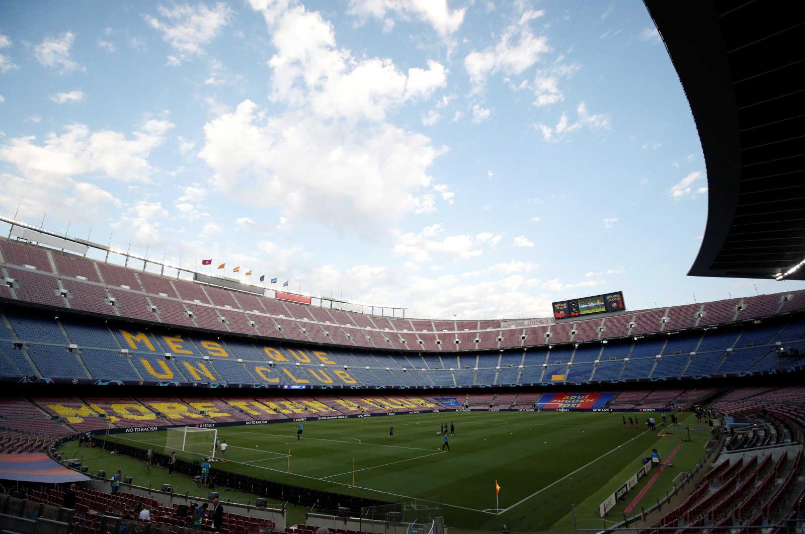 A general view inside Camp Nou stadium, in Barcelona, Spain, Aug. 8, 2020. (Reuters Photo)