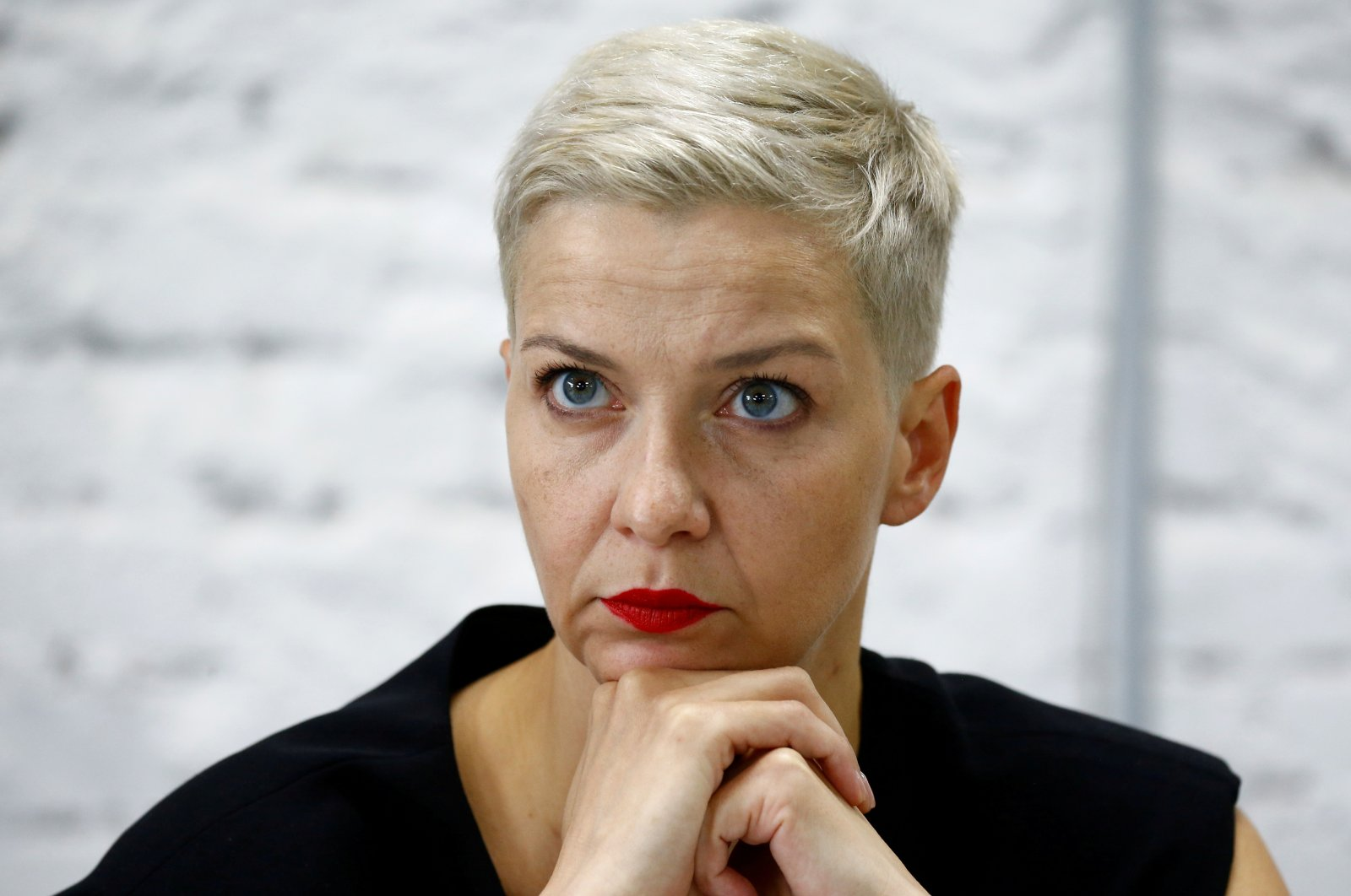 Politician and representative of the Coordination Council for members of the Belarusian opposition Maria Kolesnikova attends a news conference in Minsk, Belarus, Aug. 24, 2020. (Reuters Photo)