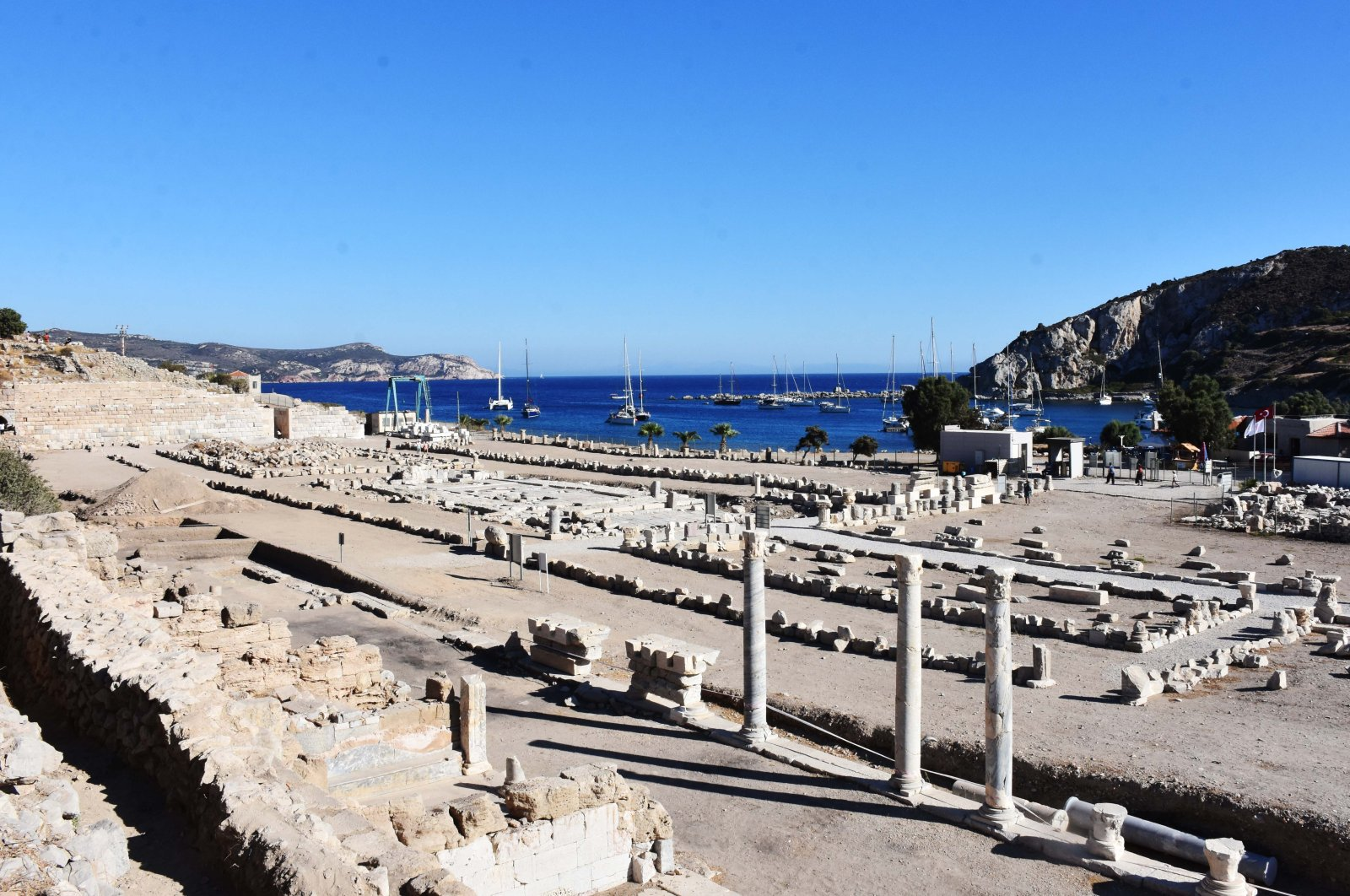 A general view shows the historical ruins in the ancient city of Knidos, in Muğla province, southwestern Turkey, Sept. 6, 2020. (AA Photo)