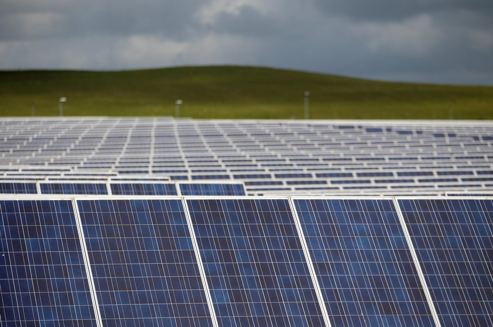 A solar power plant is seen in Canino, central Italy, April 27, 2016. (Reuters Photo)