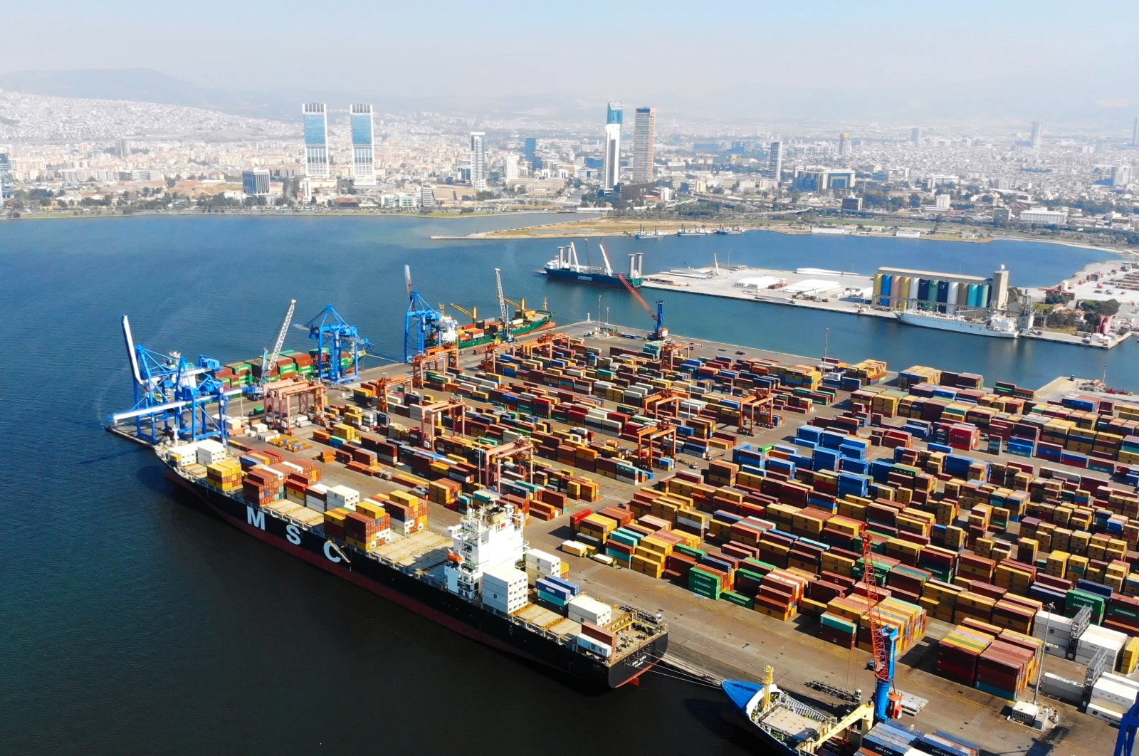 An aerial view of the Port of Izmir in western Turkey, July 10, 2018. (iStock Photo)