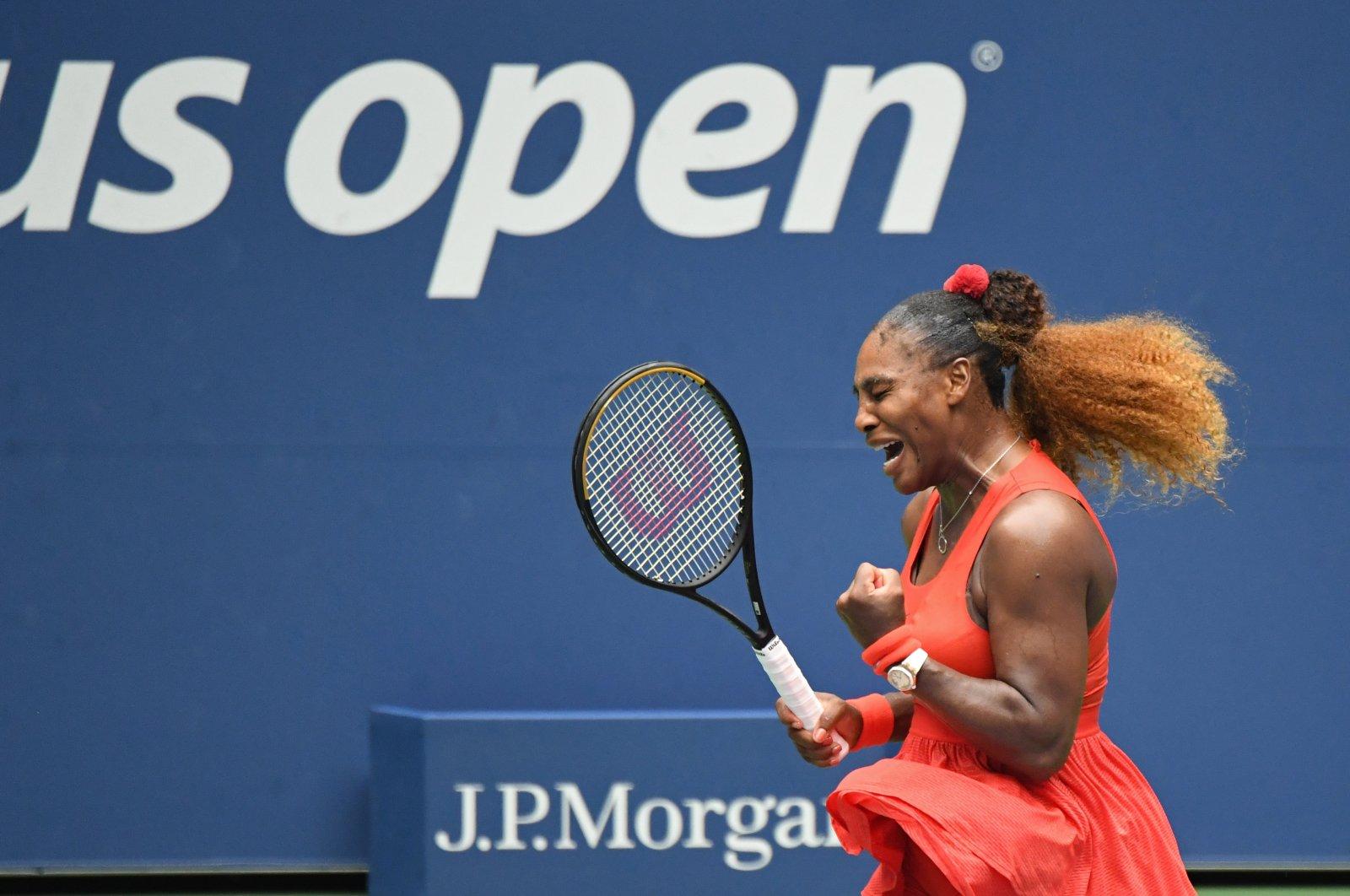 Serena Williams reacts during her quarterfinal match against Tsvetana Pironkova at the U.S. Open tournament in New York, U.S., Sept. 9, 2020. (Reuters Photo)