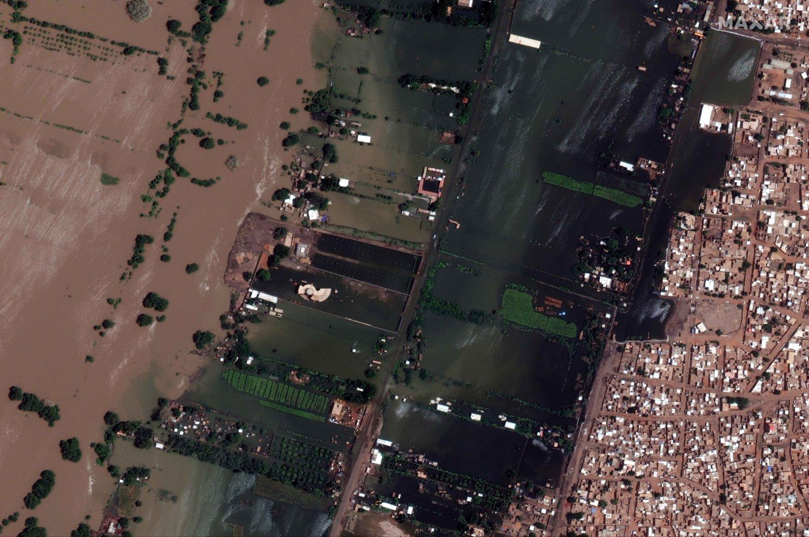 A satellite image shows Halfie Elmouluk as heavy floods sweep through Khartoum, Sudan, Sept. 5, 2020. (REUTERS Photo)