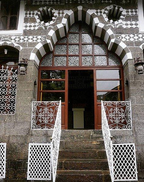 The entrance gate of the Cahit Sıtkı Tarancı Museum, in Diyarbakır, southeastern Turkey.