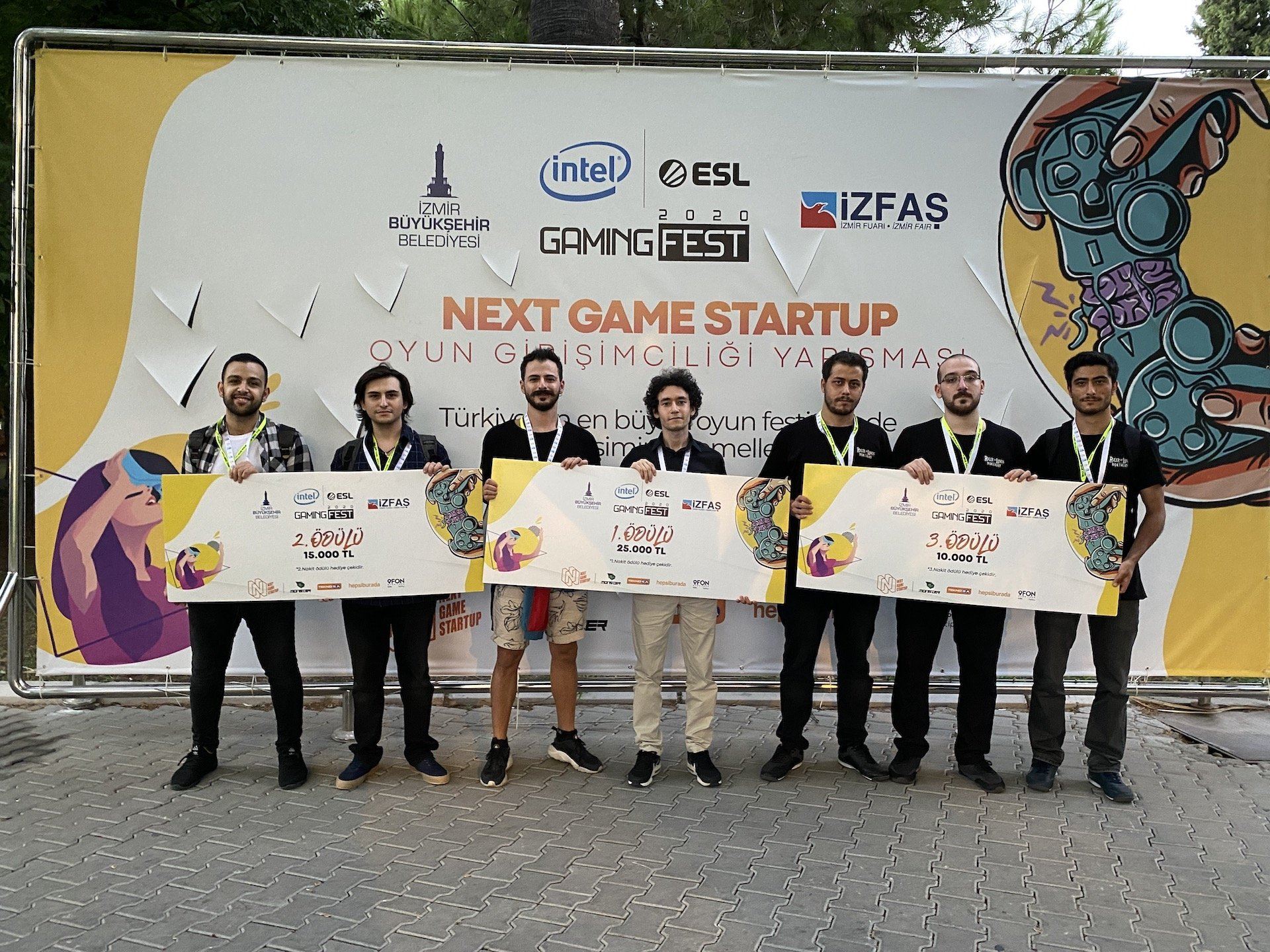 The winners of the Next Game Startup competition.