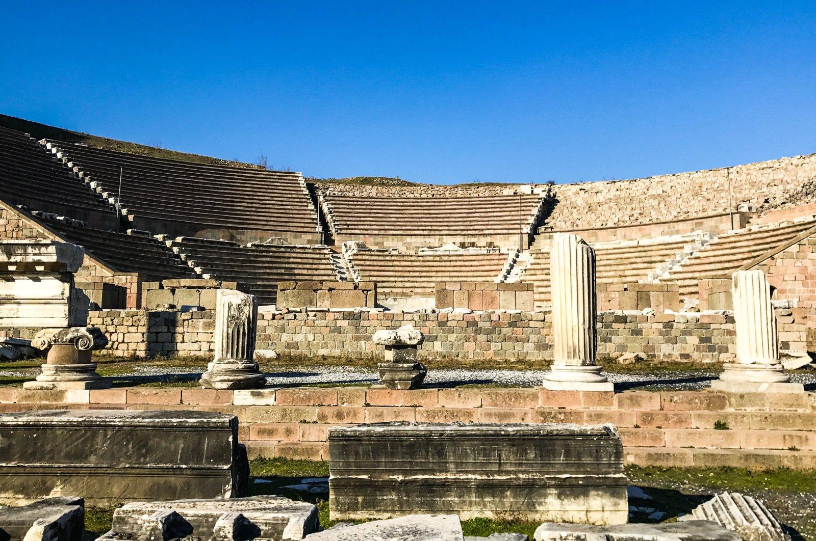 The theater at Asklepion, Izmir. (Photo by Argun Konuk)