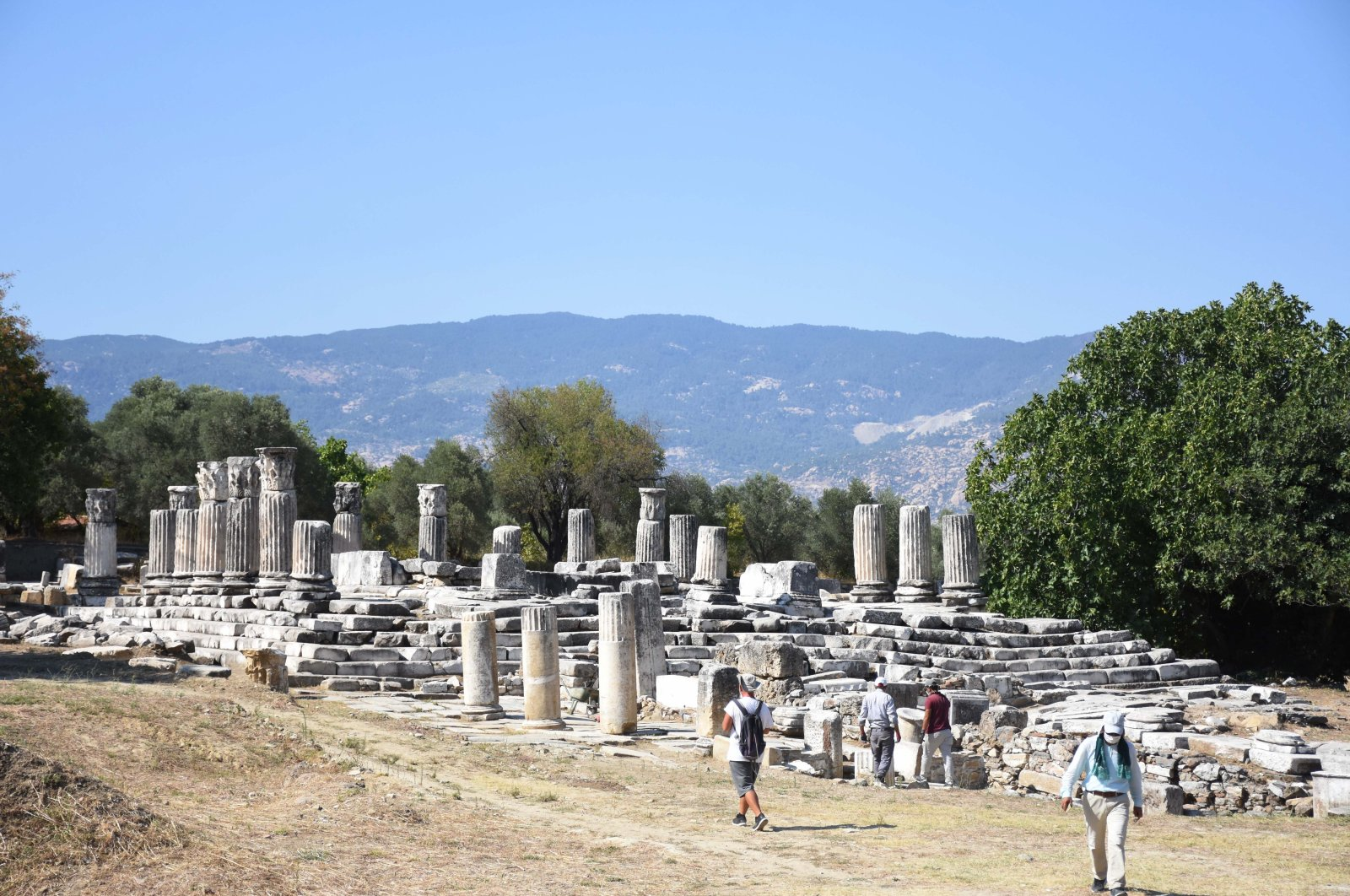 Historical structures in the Sanctuary of Hecate in Lagina, Muğla province, southwestern Turkey, Sept. 7, 2020. (AA Photo)