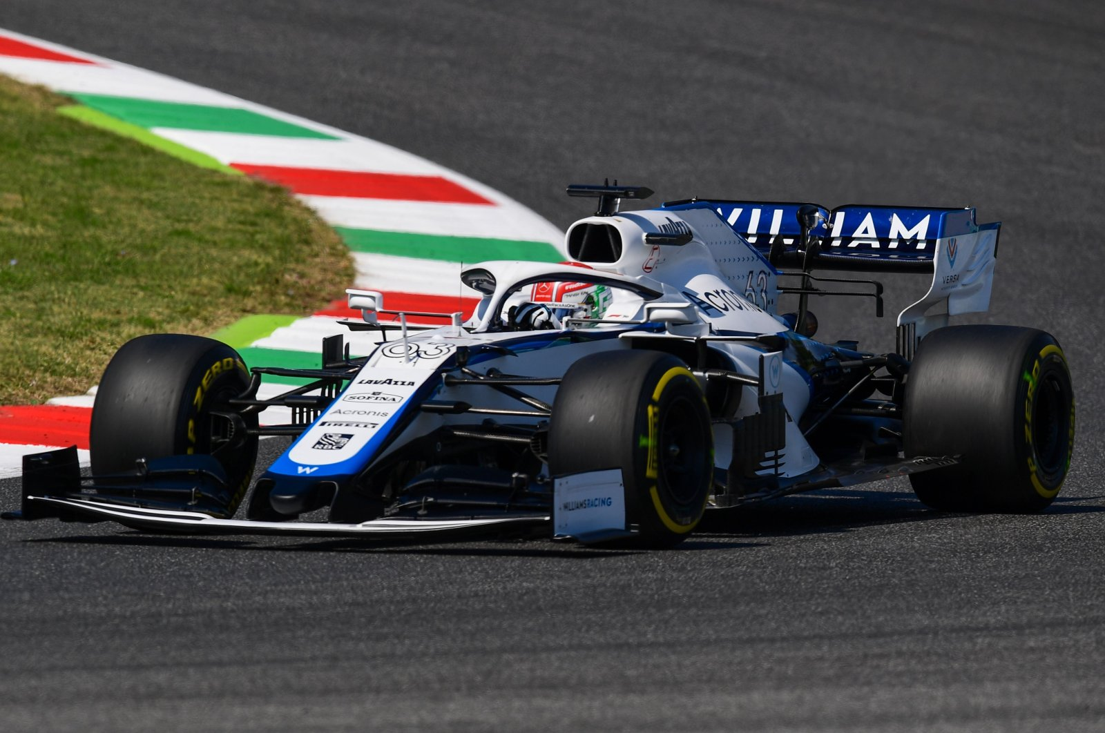 Williams driver George Russell during a practice session ahead of the Tuscan GP in Scarperia, Italy, Sept. 11, 2020. (AFP Photo)