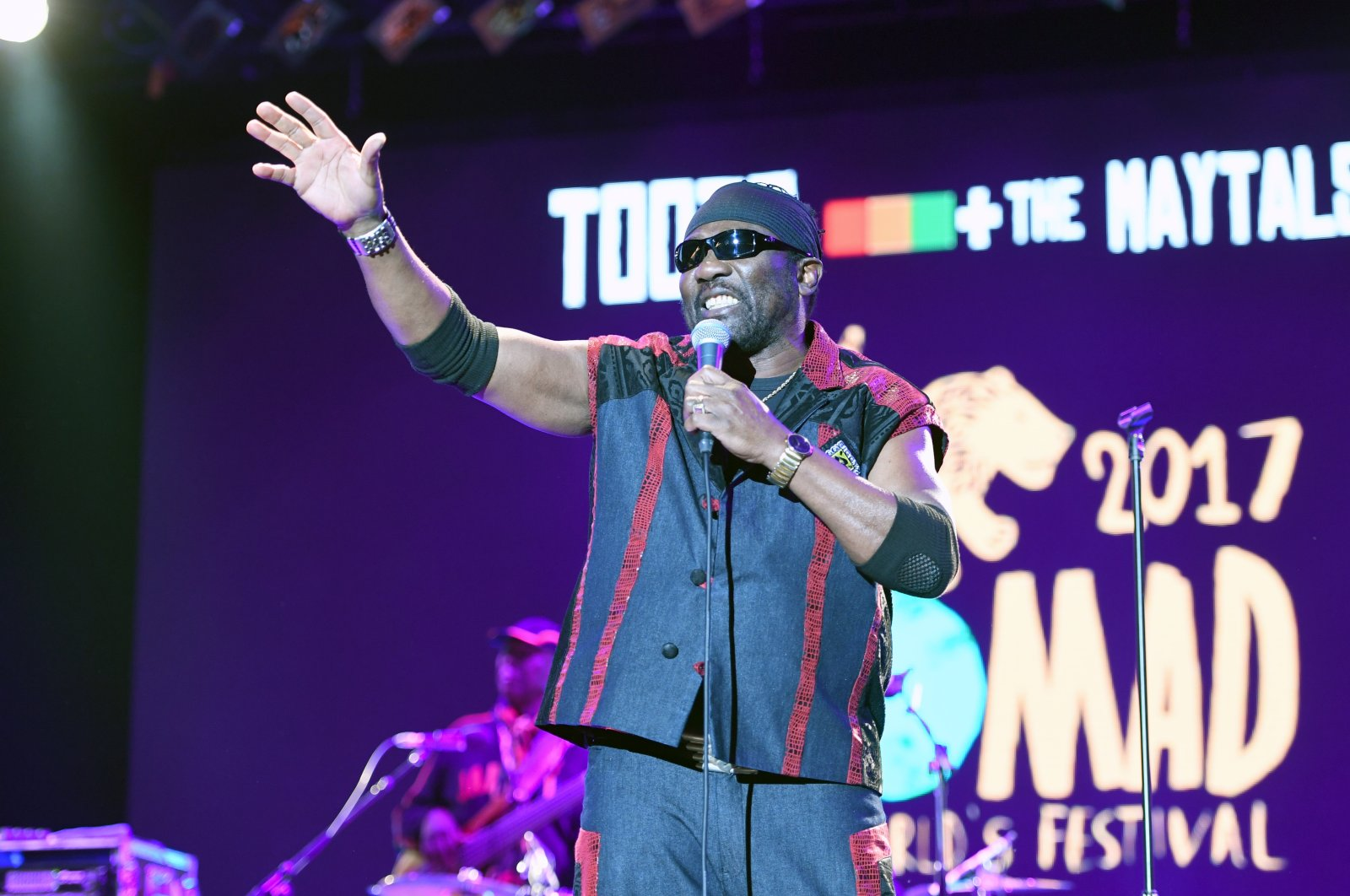 Jamaican singer Toots Hibbert of Toots and the Maytals performs at the Womad Festival at Charlton Park in Wiltshire on July 29, 2017 (Reuters Photo)