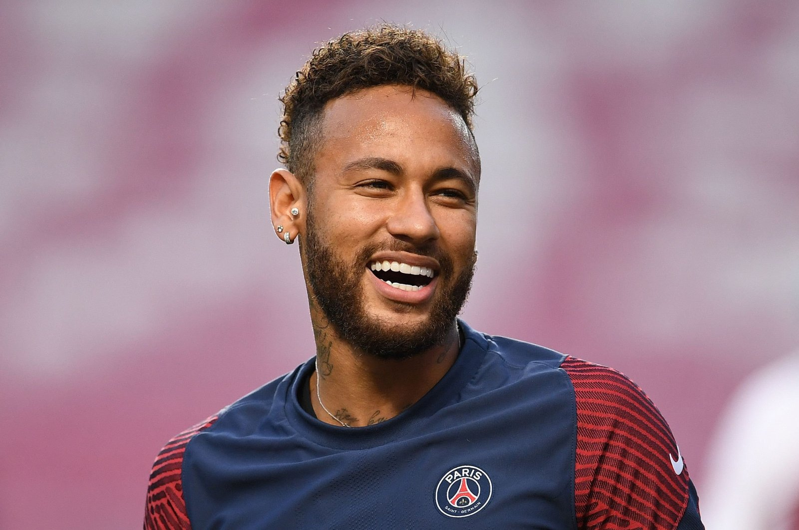 Paris Saint-Germain's Brazilian forward Neymar reacts during a training session on the eve of UEFA Champions League final football match between Paris Saint-Germain and Bayern Munich, at the Luz stadium in Lisbon, Aug. 22, 2020. (AFP Photo)