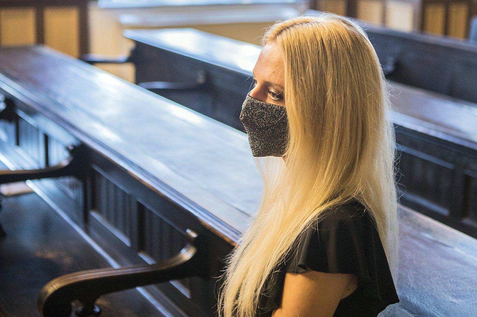 Julija Adlesic appears in at court in Ljubljana, Slovenia, Friday, Sept. 11, 2020. (AP Photo)