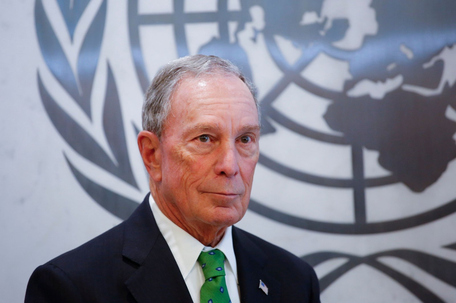 Michael Bloomberg poses after he was appointed Special Envoy for Climate Action by United Nations Secretary-General Antonio Guterres at the U.N. headquarters in New York City, March 05, 2018. (AFP Photo)