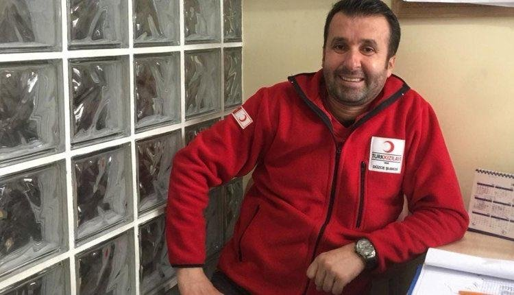 Turkish Red Crescent personnel Mehmet Arif Kıdıman killed in a terrorist attack in northern Syria. (IHA Photo)