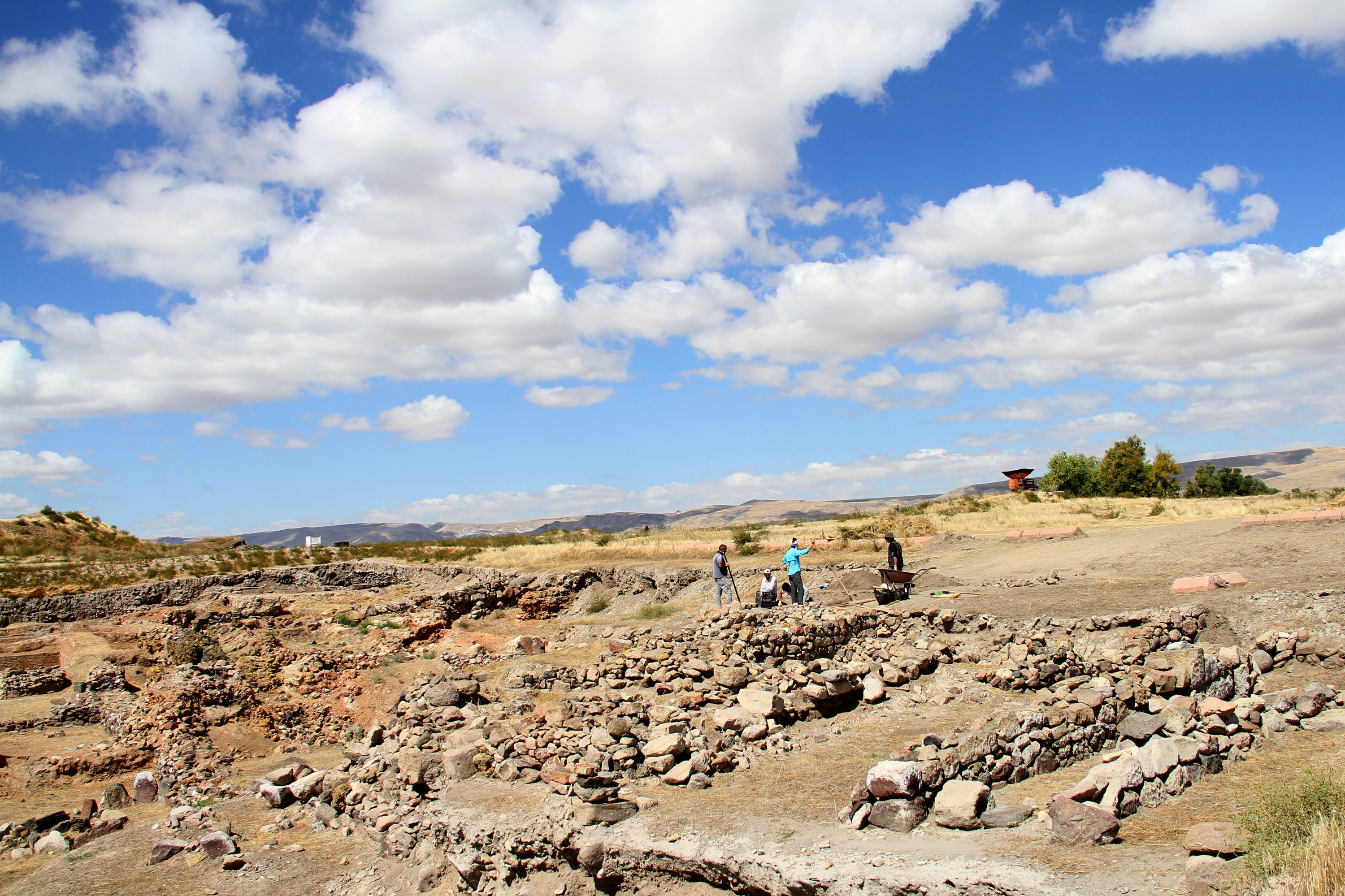 A general view from the Kültepe archaeological site, Kayseri, central Turkey, Sept. 14, 2020. (AA Photo)