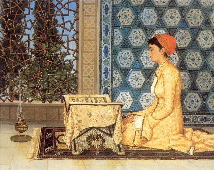 "Osman Hamdi Bey's ""Girl Reciting Quran"