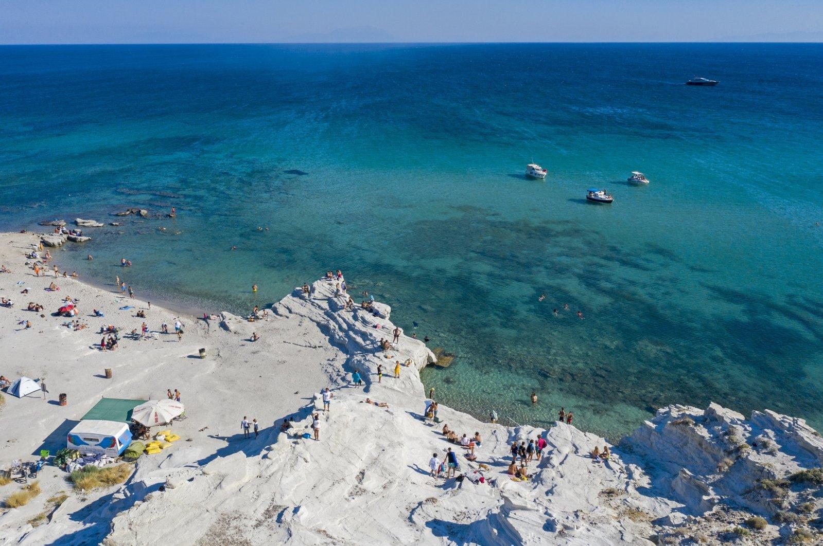 Delikli Bay of Izmir's Çeşme district, Aug. 23, 2020. (AA Photo)