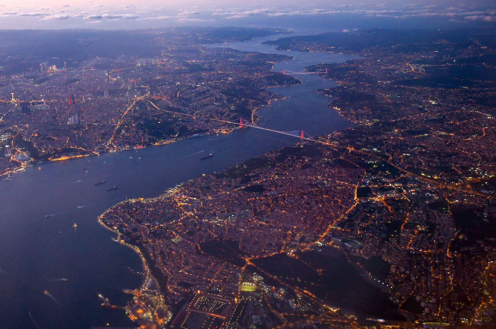 An aerial view of the metropolis of Istanbul, Turkey, Aug. 20, 2019. (AA Photo)