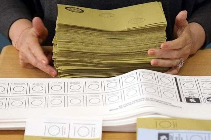 This undated file photo shows voting papers in a Turkish election.