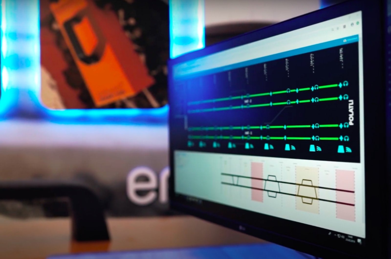 A part of RailAcoustic system developed by theEnekom Energy Computing and Engineering A.Ş, Sept. 15, 2020. (Photo by Enekom via AA)
