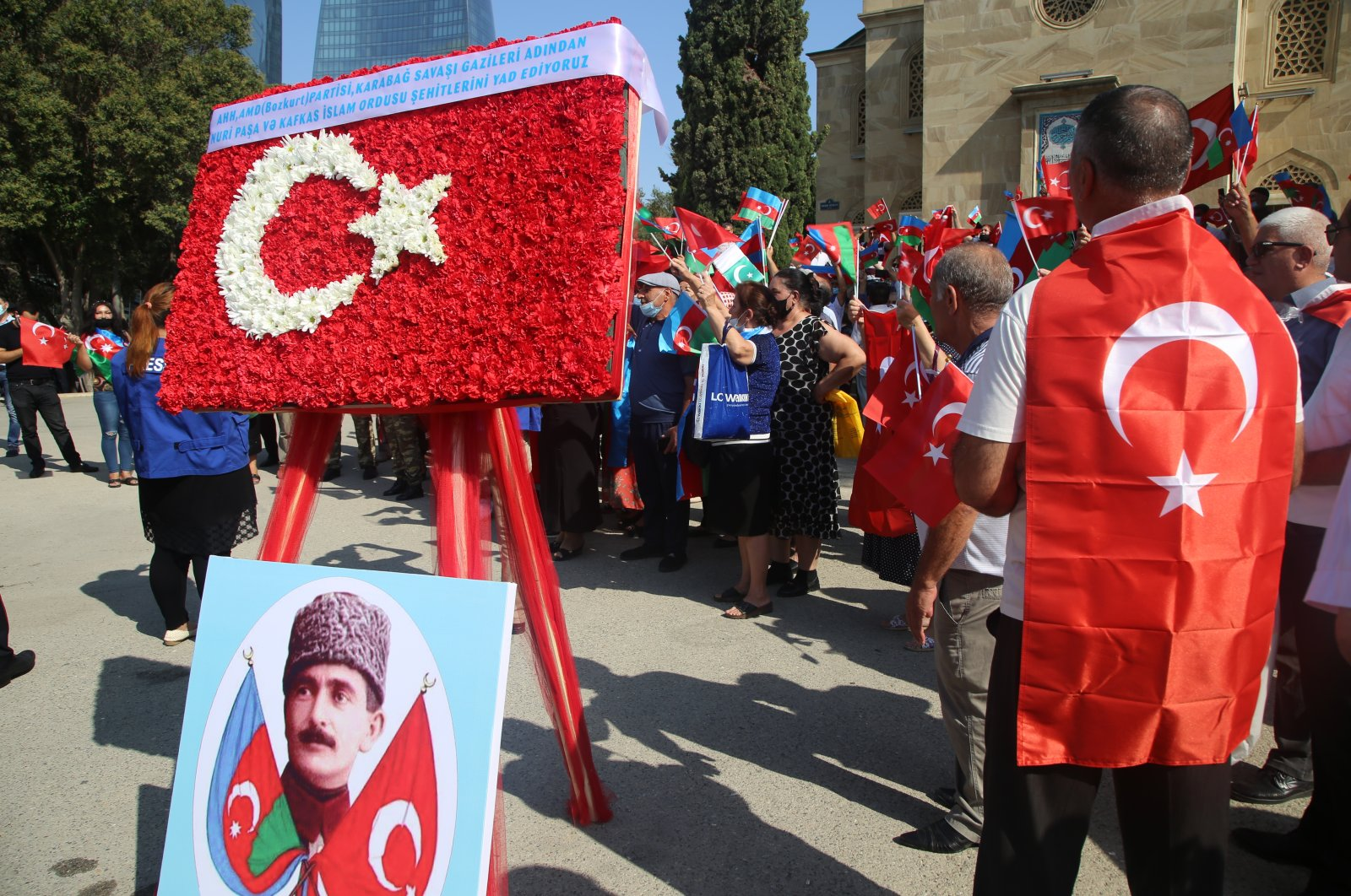 On the occasion of the 102nd anniversary of Baku's liberation, a ceremony was organized at the Turkish martyr's cemetery in Baku, Azerbaijan, Sept.15, 2020 (AA Photo)