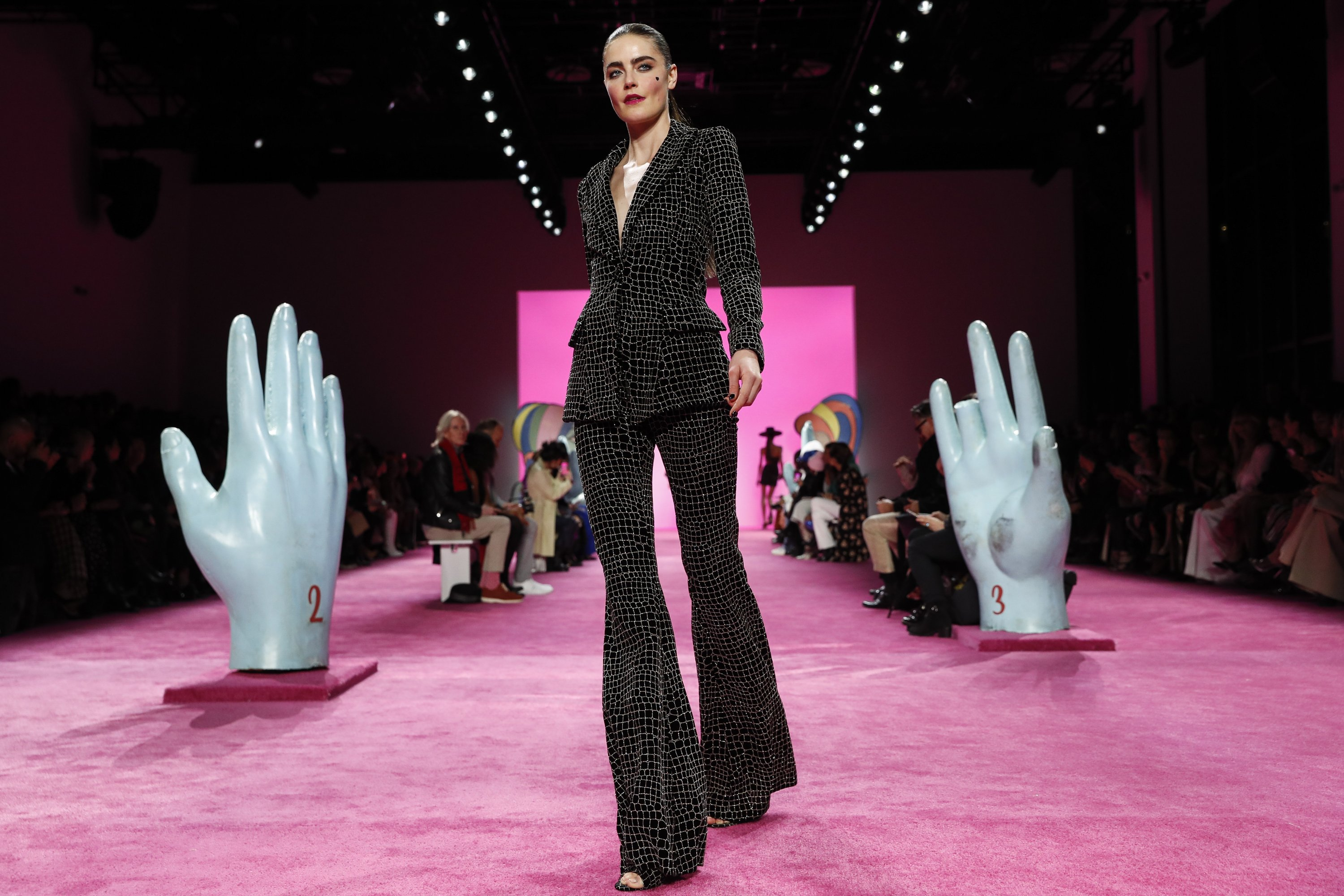The Christian Siriano collection is modeled during Fashion Week in New York on Feb. 6, 2020. (AP Photo)
