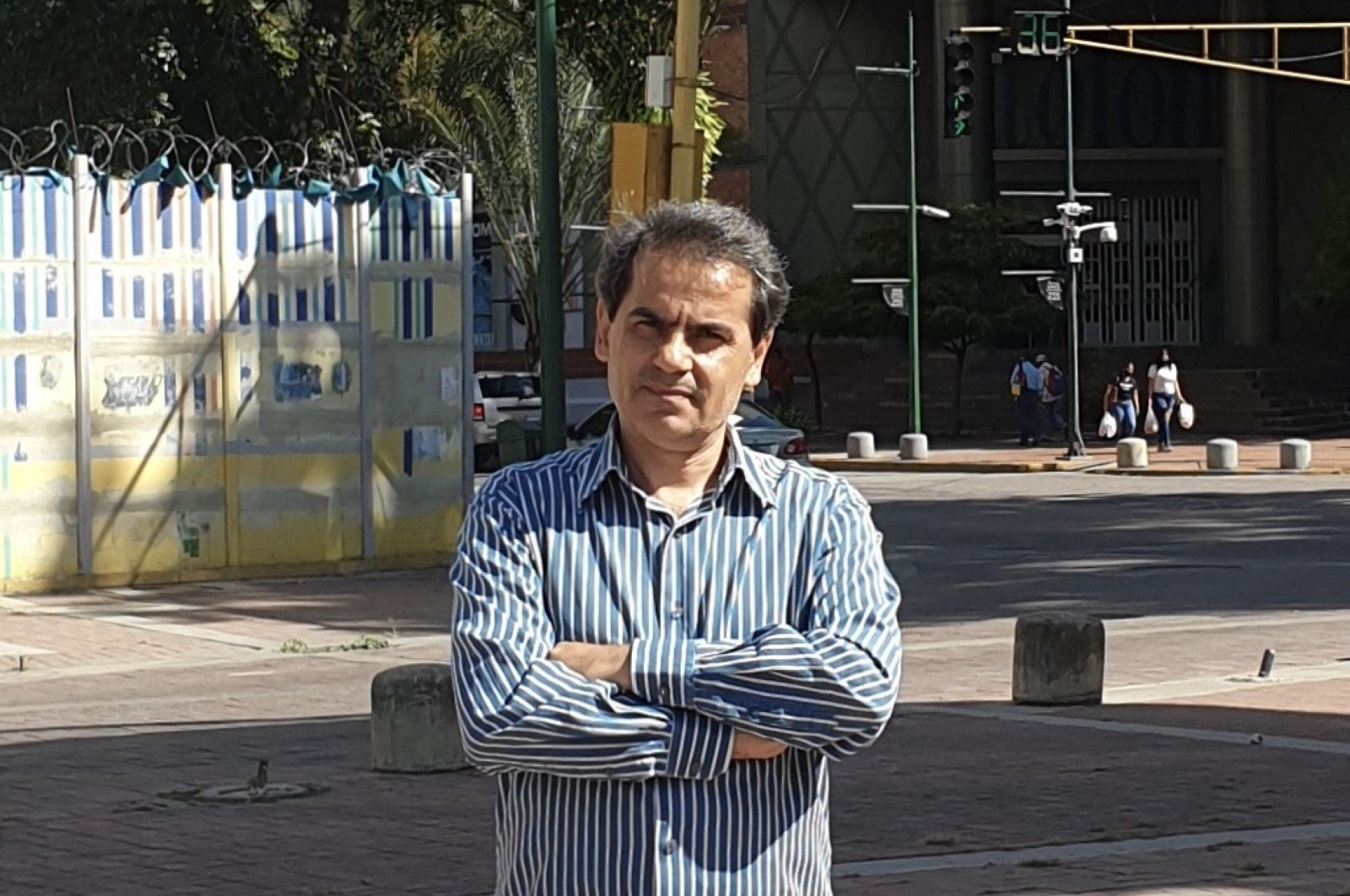 Hayri Küçükyavuz is running for election to become the first Turkish deputy of Venezuela, Caracas, Sept.16, 2020. (AA)