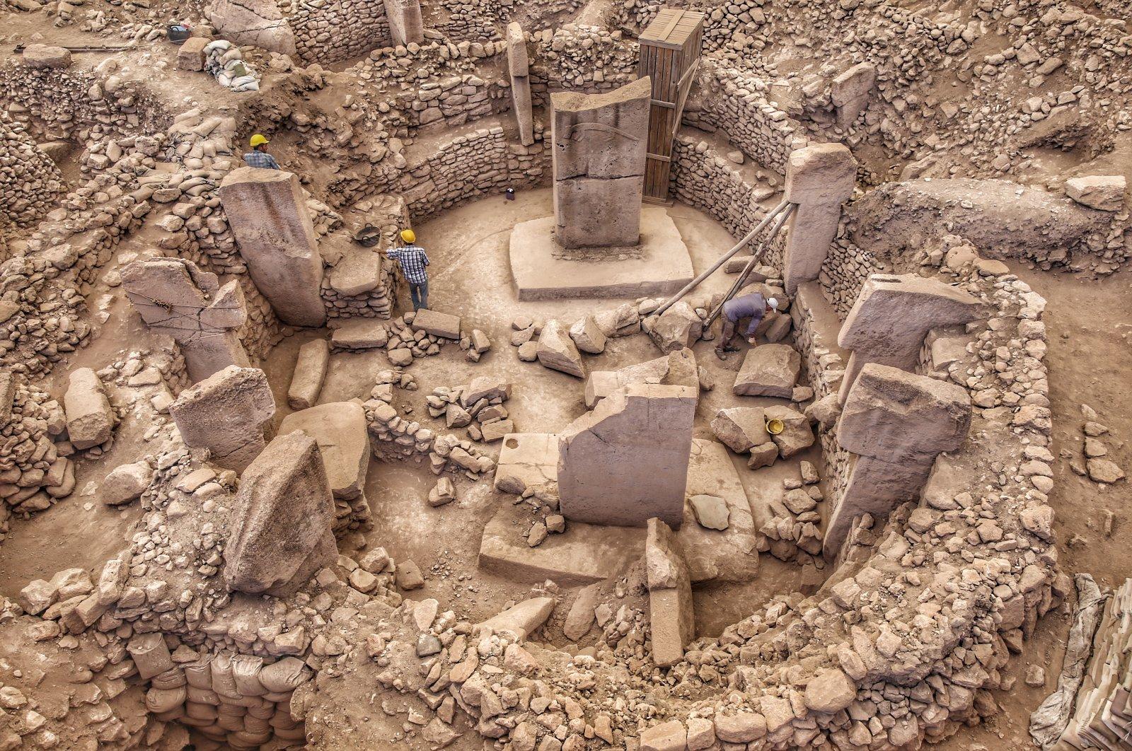 A photo from the Göbeklitepe archaeological site, Şanlıurfa, southeastern Turkey, Oct. 27, 2019. (PHOTO BY MURAT ŞENGÜL)