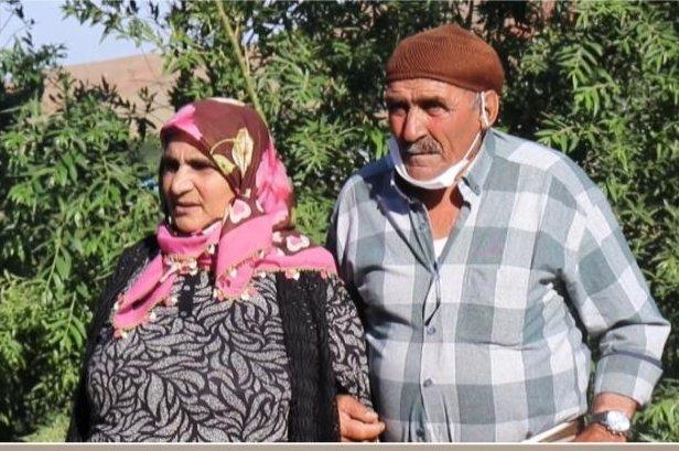 Hanım Turan (L) with her brother Ihsan in Kars, eastern Turkey, Aug. 18, 2020. (DHA Photo)
