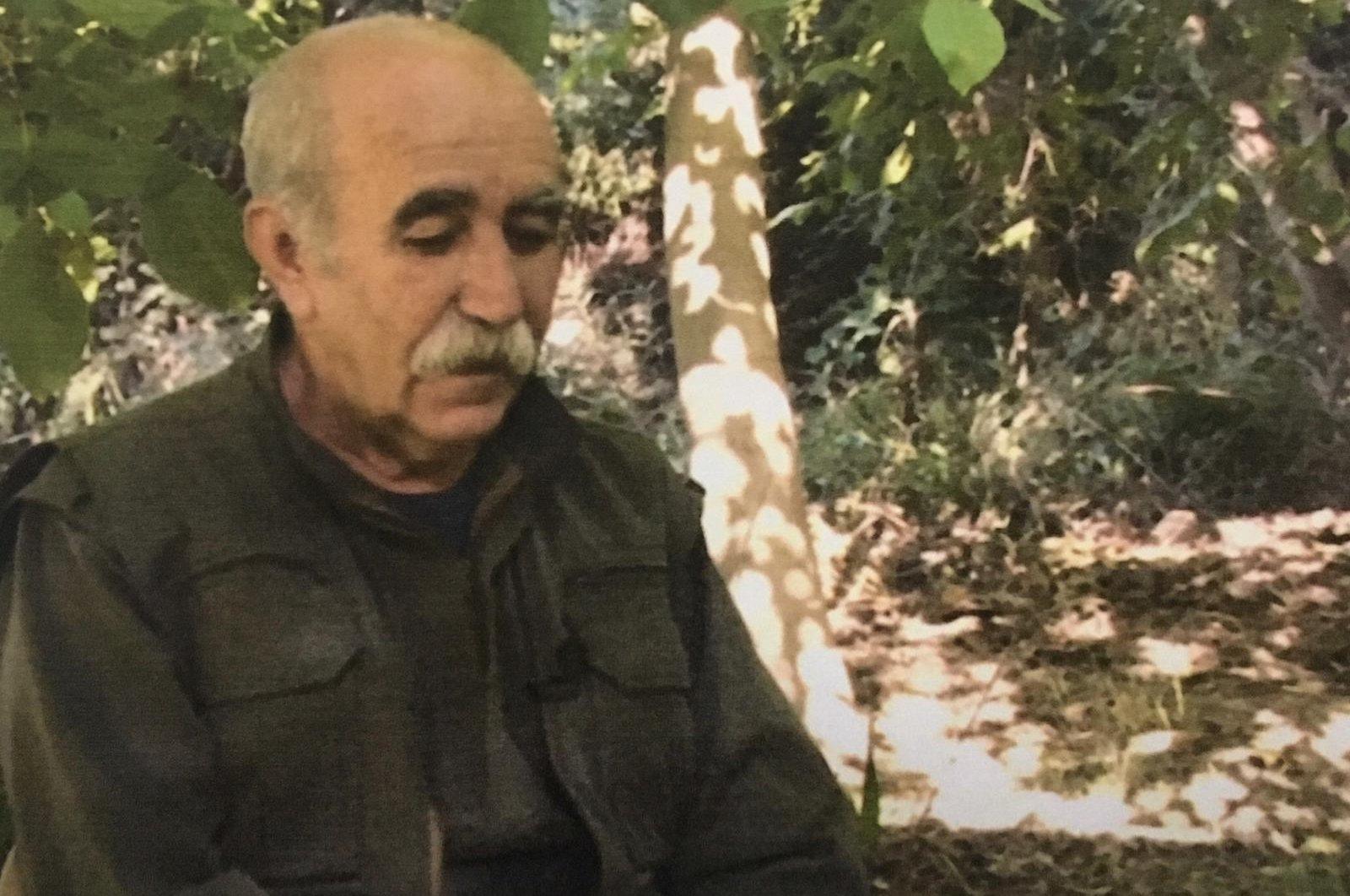 A photo of prominent PKK terrorist Ali Haydar Kaytan, possibly in northern Iraq's Qandil Mountains. (DHA Photo)