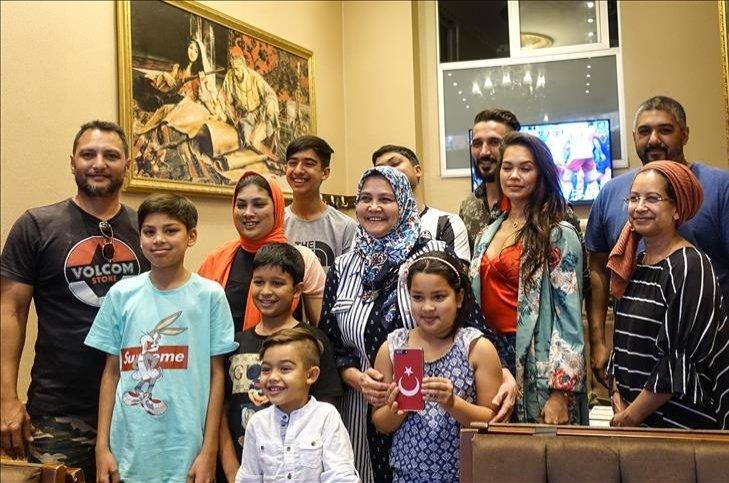Abu Bakr Efendi's descendants during their visit to Istanbul, Turkey, June 26, 2018. (AA Photo)