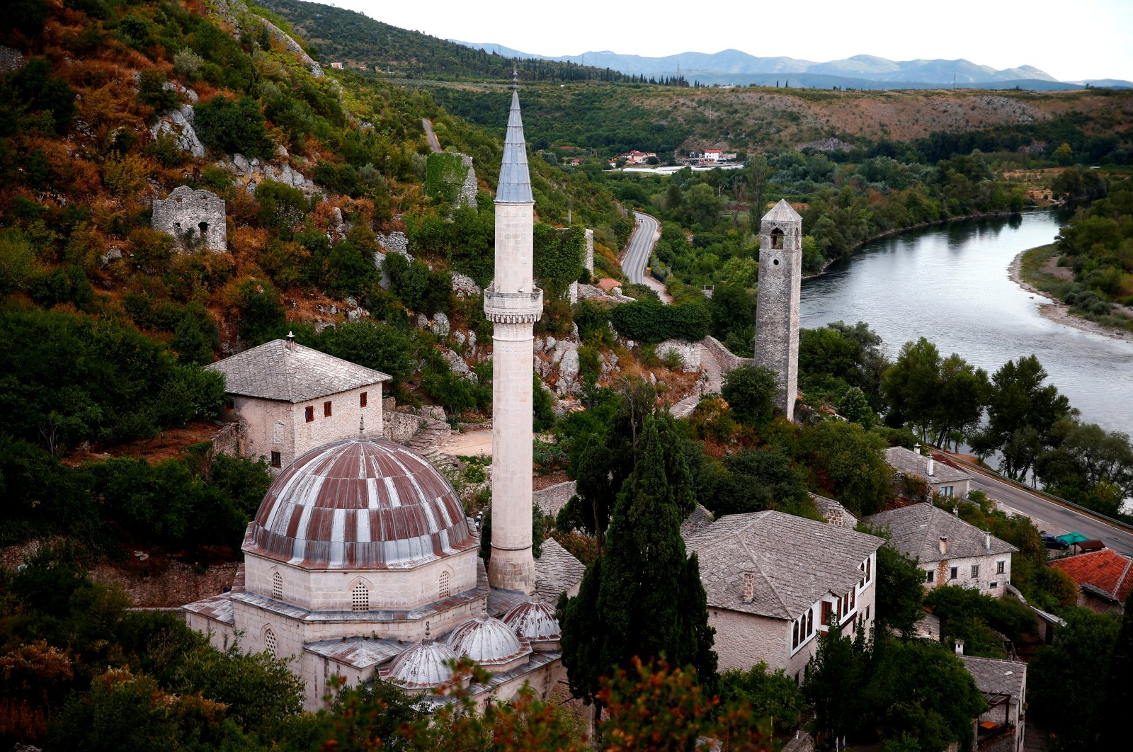 A mosque stands in Pocitelj, Bosnia-Herzegovina, July 27, 2019. (Reuters Photo)