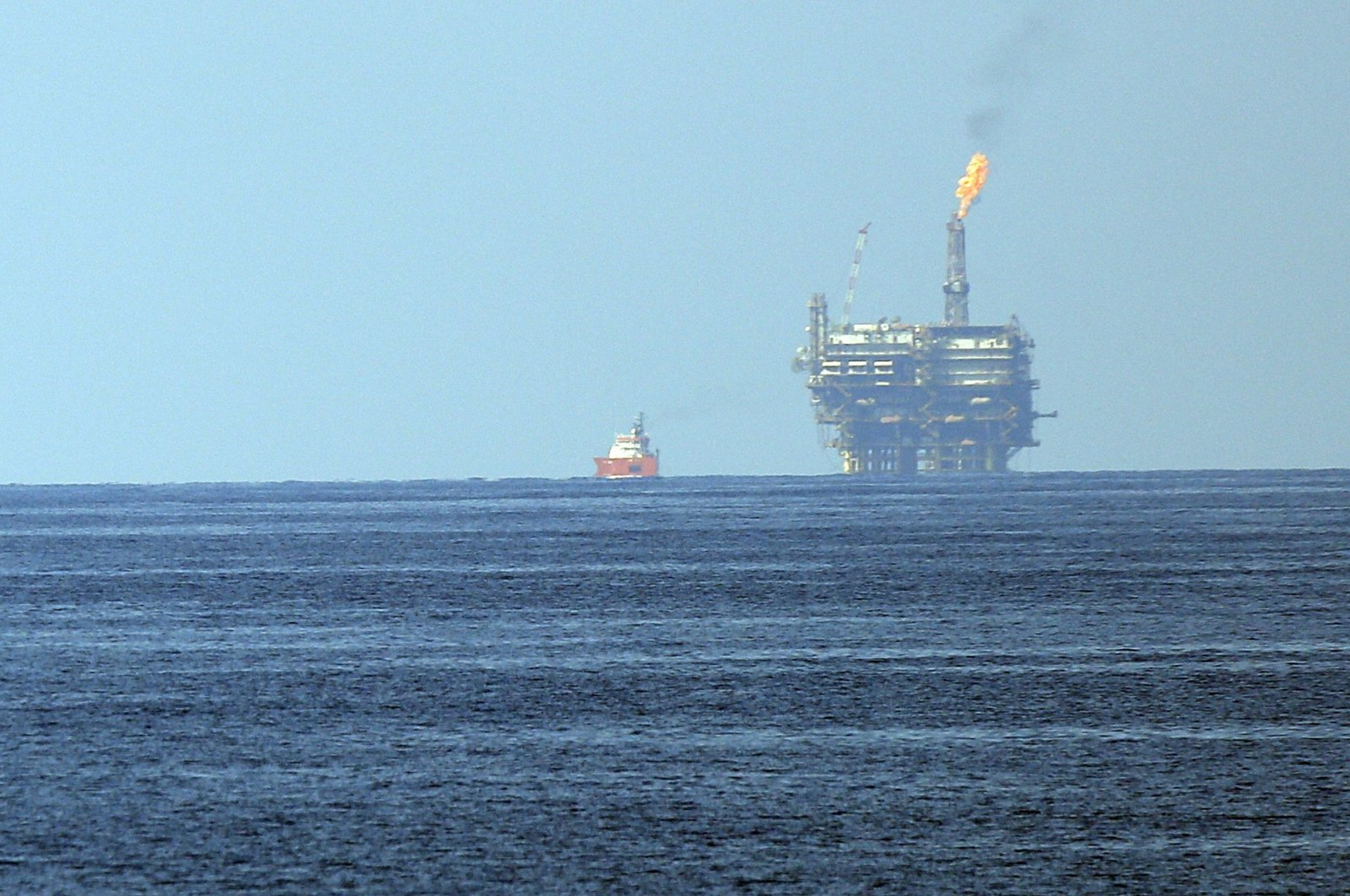 Eni's Bouri Offshore oil terminal is seen off the Libyan coast, in the Mediterranean Sea, Aug. 1, 2015. (AP Photo)