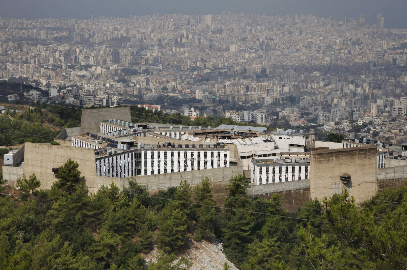 Roumieh Prison is seen in the Beirut suburb of Roumieh, Lebanon, Aug. 18, 2009. (AP Photo)