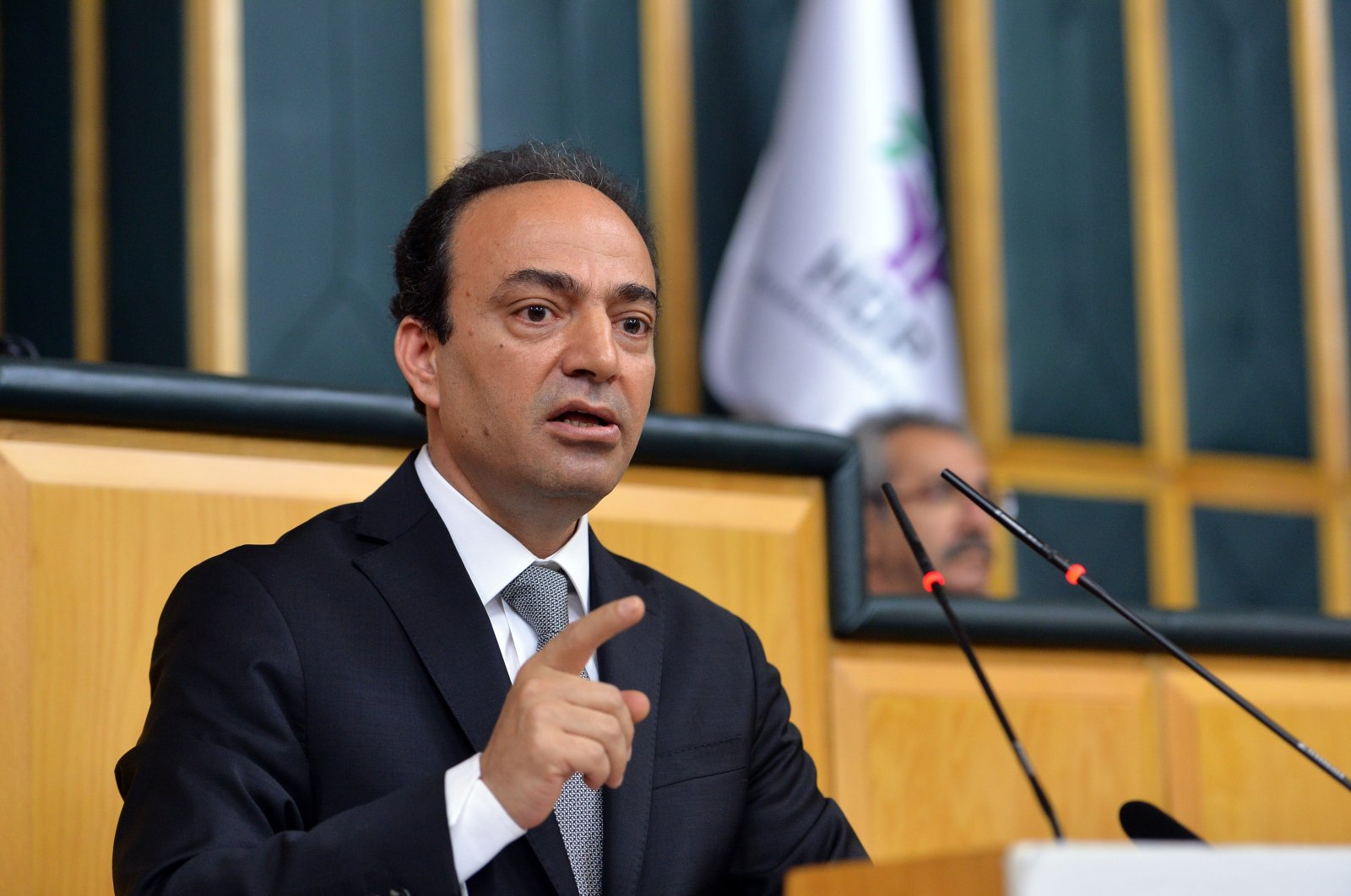 Osman Baydemir speaks in this undated photo, in Ankara, Turkey. (IHA Photo)