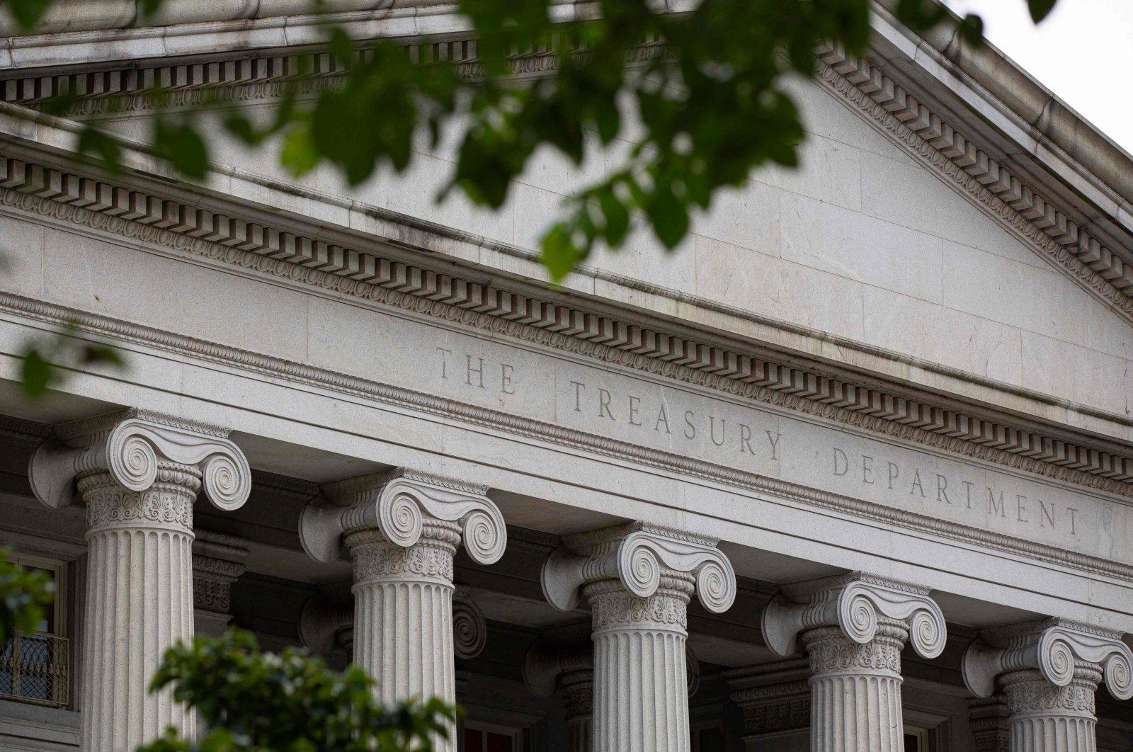 The U.S. Treasury Department building is seen in Washington, D.C., U.S., July 22, 2019. (AFP Photo)