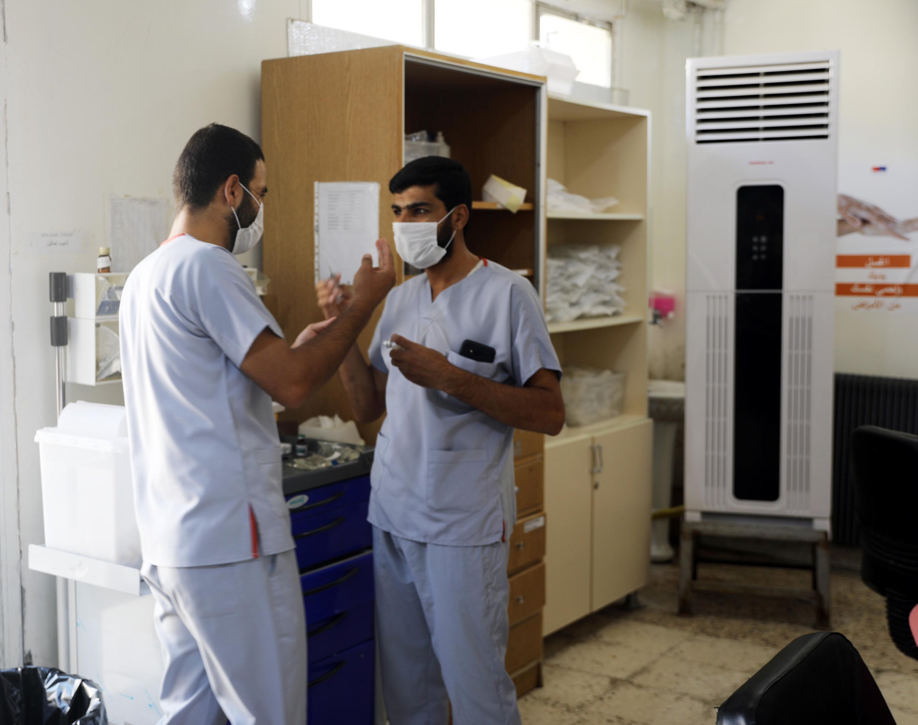 Reconstructed Tal Abyad hospital serves about 800 patients daily, Tal Abyad, Syria, Sept.18, 2020. (DHA)