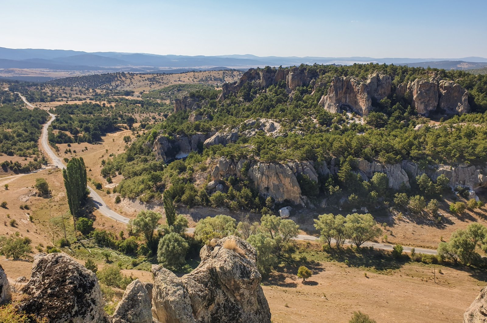 A view of Yazılıkaya Valley in Eskişehir, northwestern Turkey.  (Photo by Argun Konuk)
