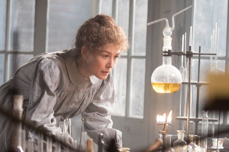 """Rosamund Pike stars in the role of Marie Curie in """"Radioactive."""""""