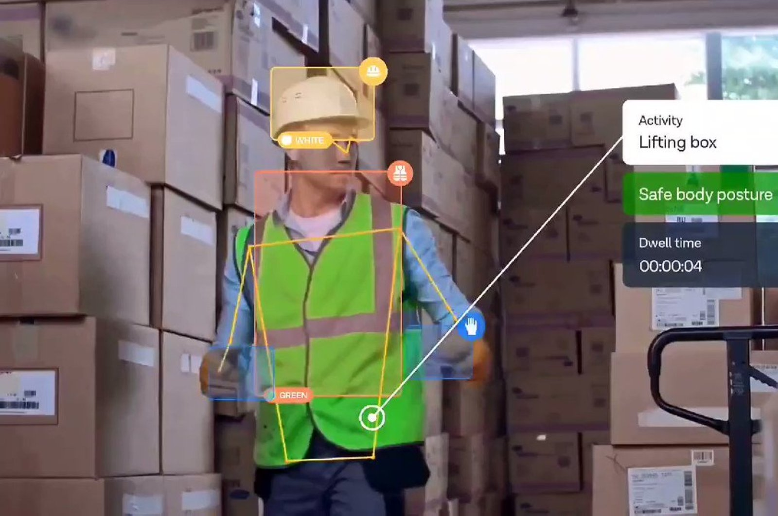 Artificial intelligence-supported cameras will monitor occupational safety in factories. (Photo courtesy of Intenseye)