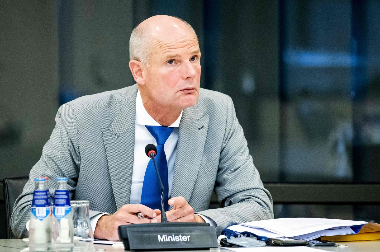 Dutch Minister of Foreign Affairs Stef Blok attends a meeting about the situation in Belarus in the House of Representatives in The Hague, the Netherlands, on Sept. 14, 2020. (AFP Photo)