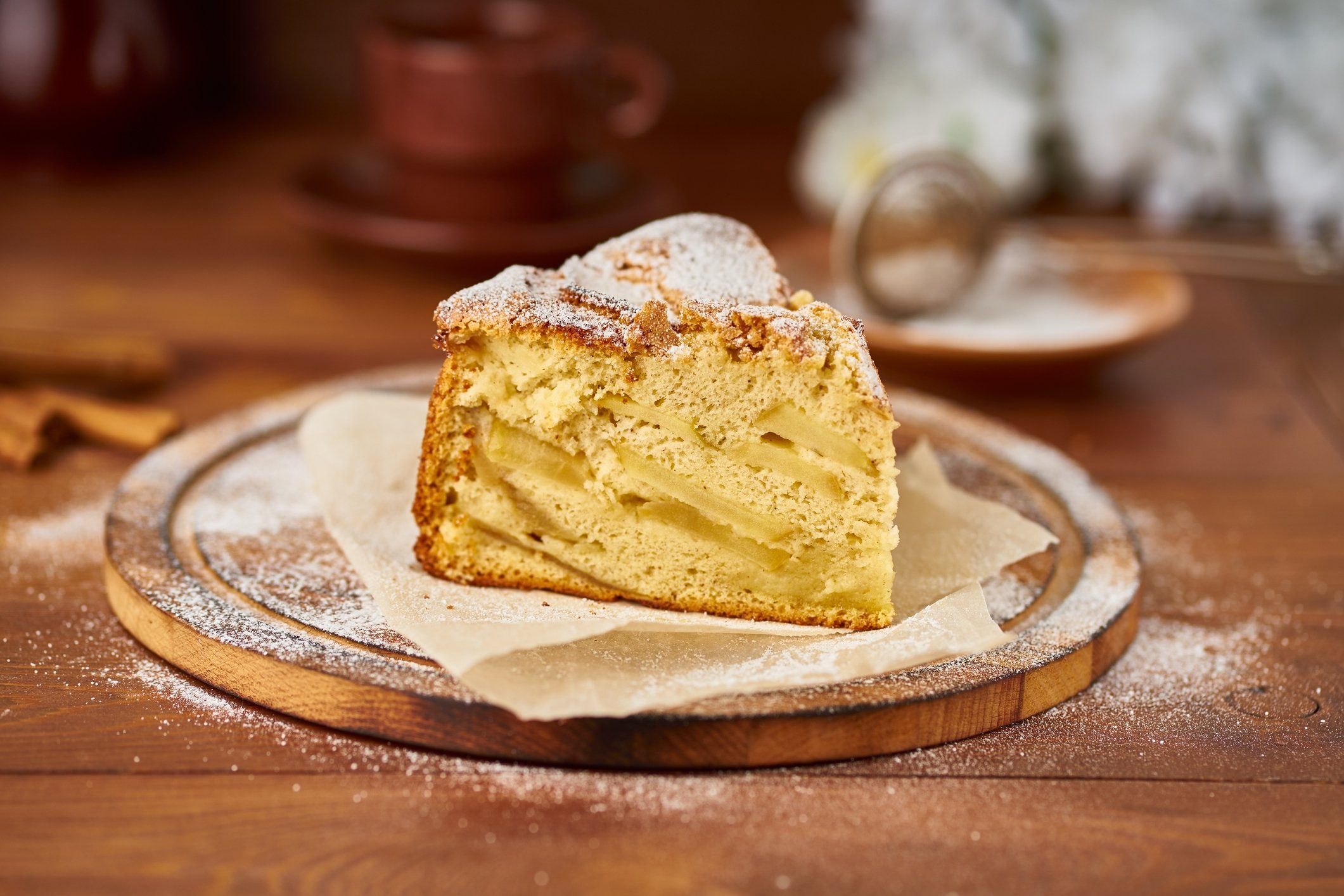 Powdered sugar is great to top off a classic apple cake. (iStock Photo)