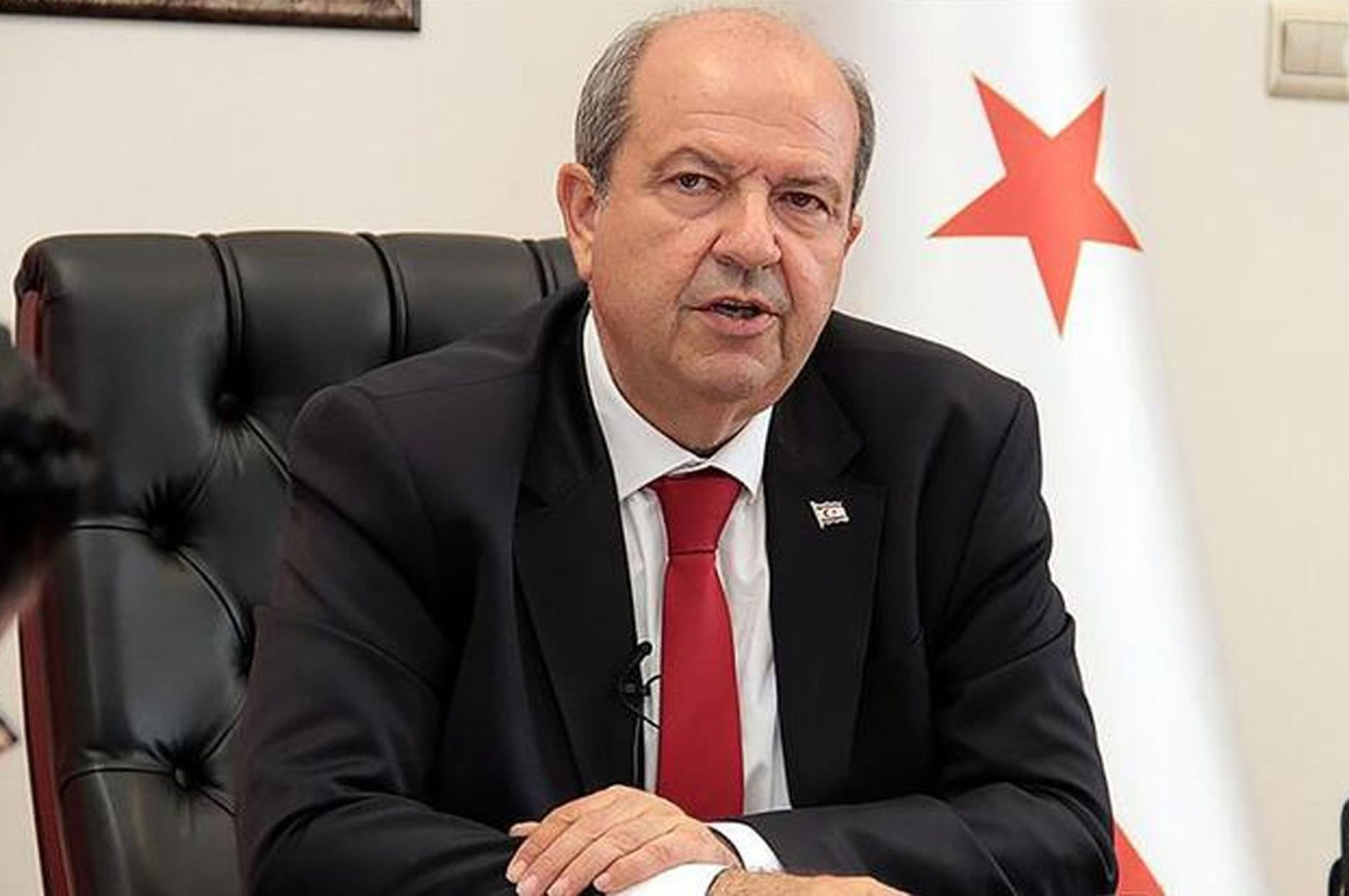 Turkish Republic of Northern Cyprus (TRNC) Prime Minister Ersin Tatar during an interview, Sept. 8, 2020.