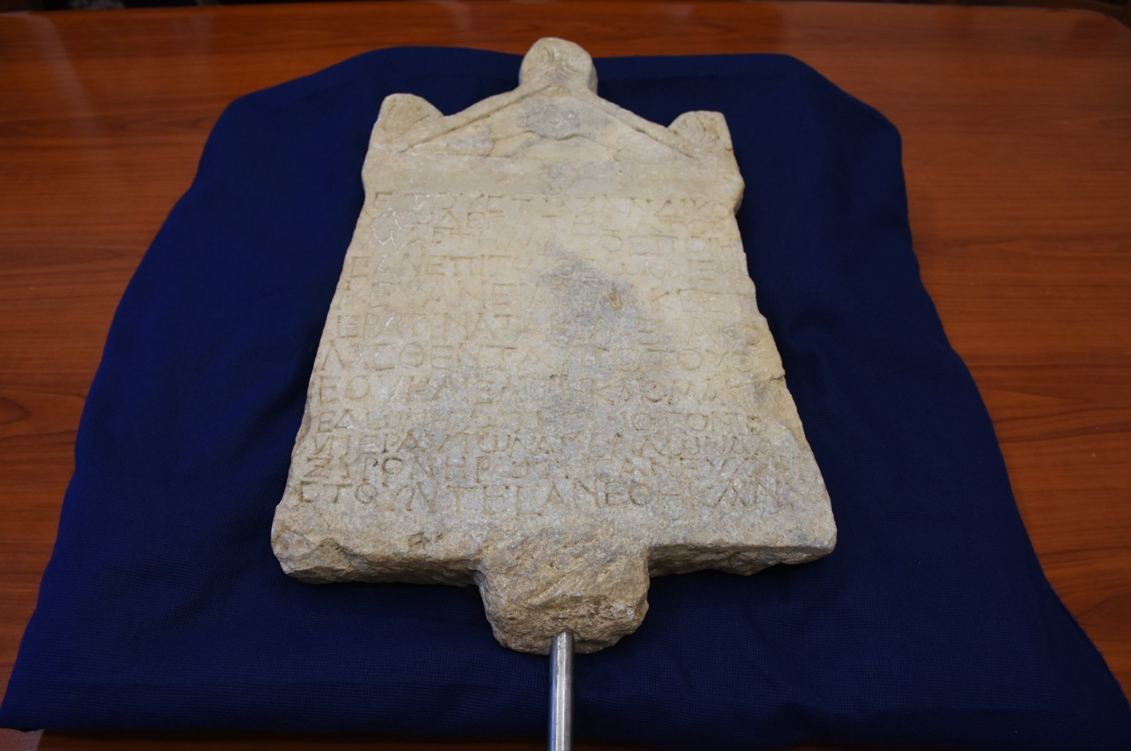 The ancient inscription was handed to Turkish officials in Florence, Italy, Sept. 19, 2020. (AA Photo)