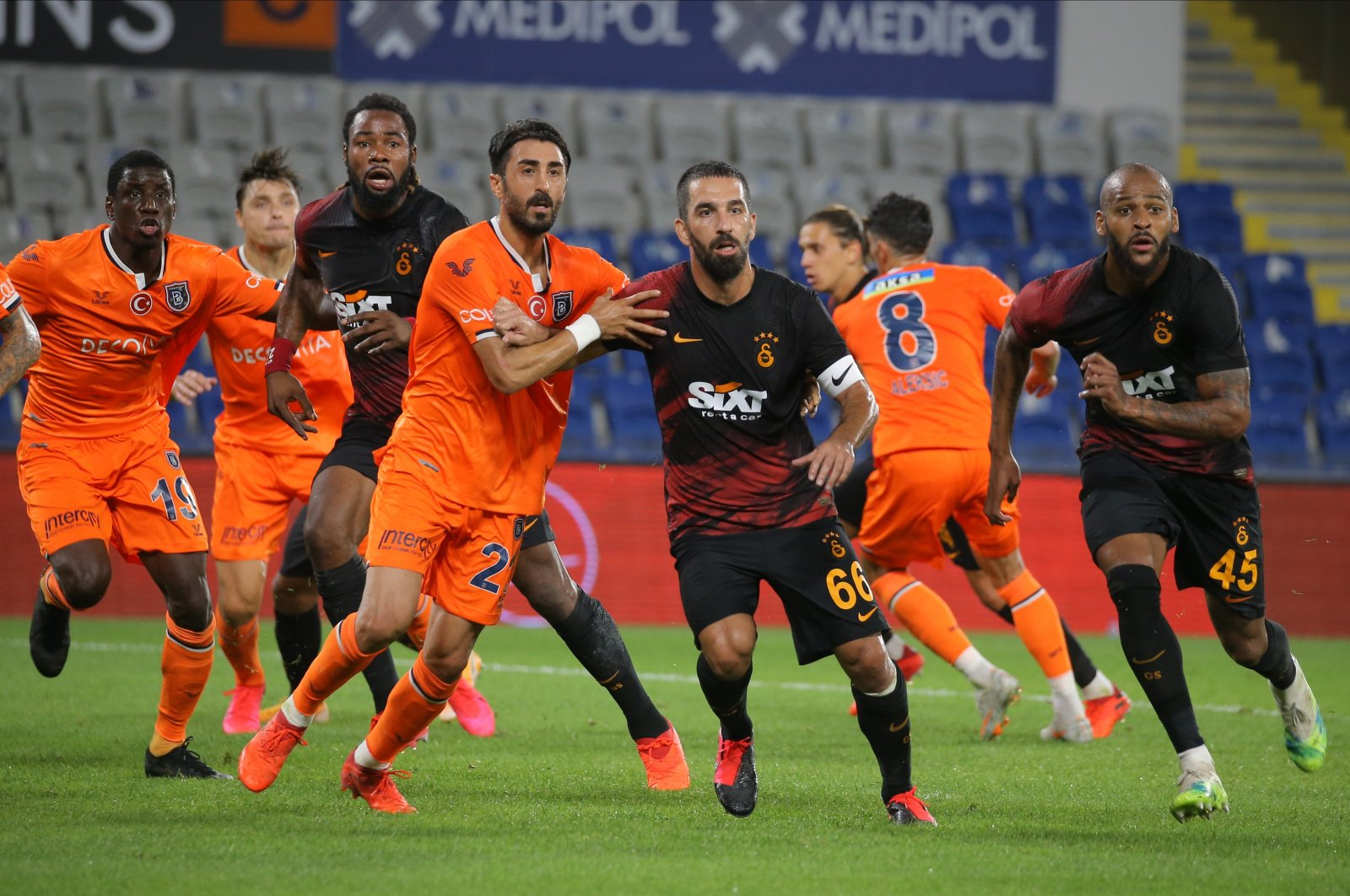 Galatasaray defeats Medipol Başakşehir 2-0 in 2nd game of the 2020-2021 Turkish Süper Lig season, Başakşehir, Turkey, Sep. 20, 2020. (IHA Photo)