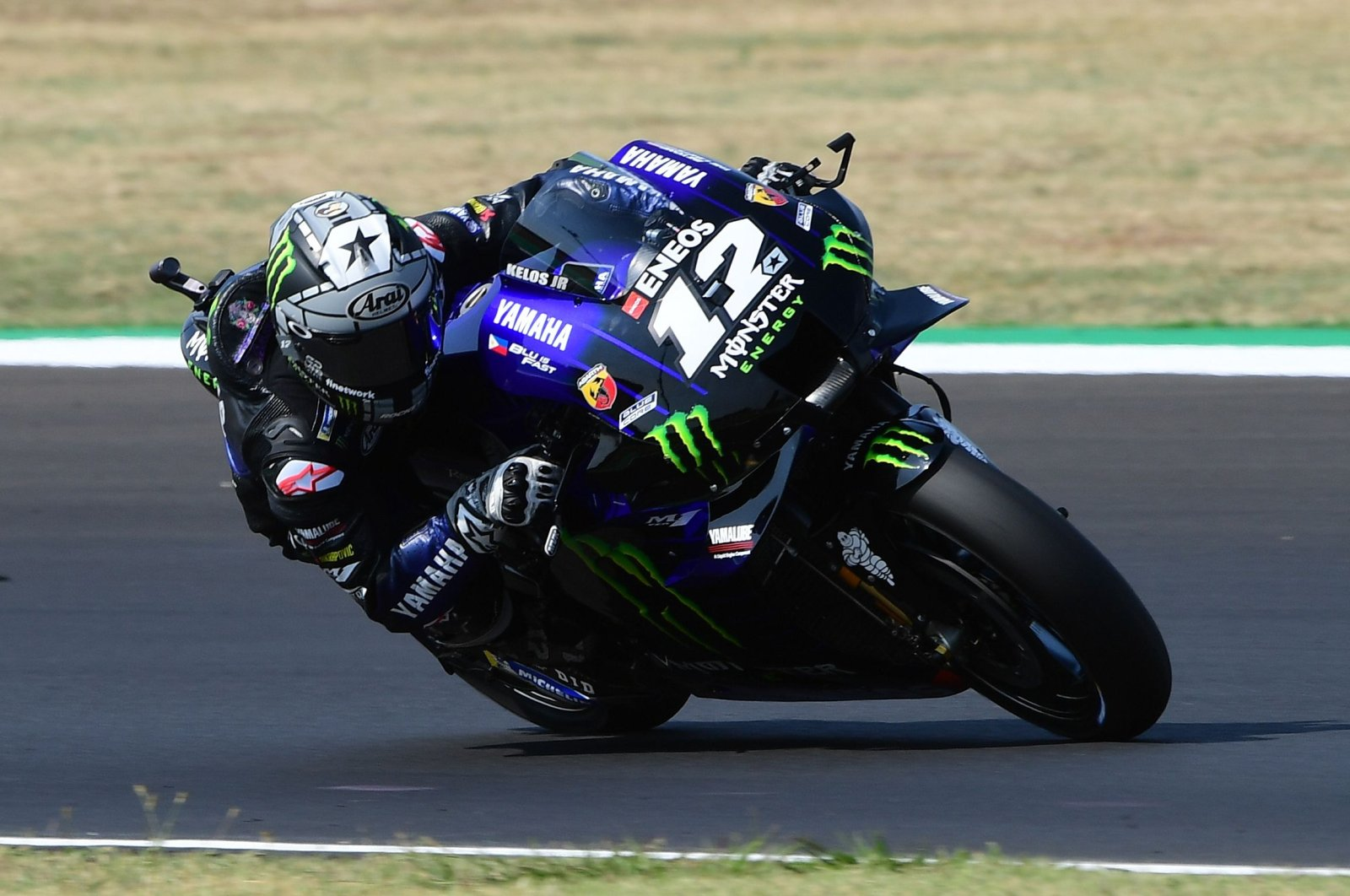 Yamaha's Maverick Vinales in action during Emilia Romagna MotoGP, in Misano, Italy, Sept. 20, 2020. (Reuters Photo)