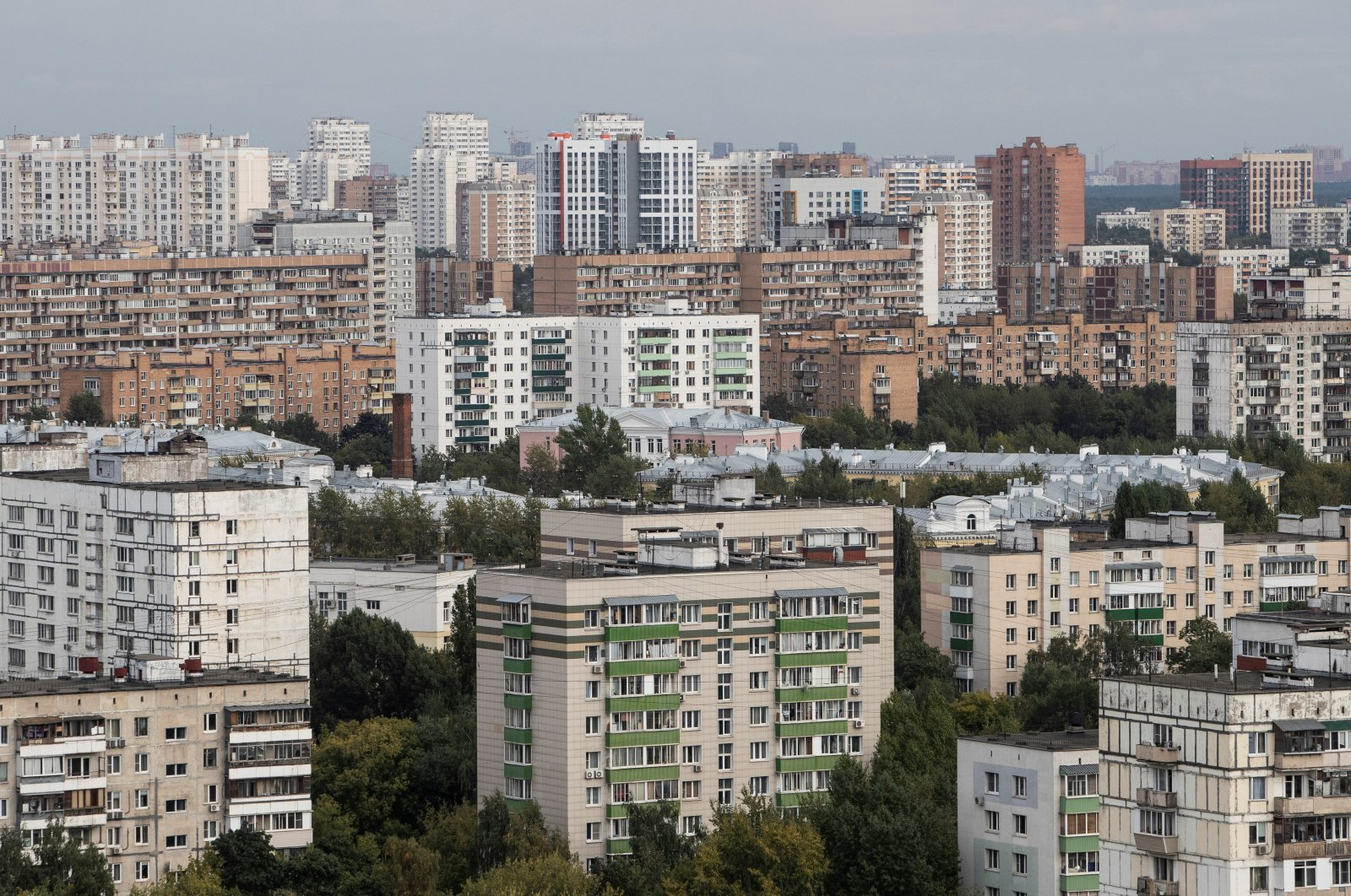 A general view of apartment blocks in Moscow, Russia, Aug. 24, 2020. (Reuters Photo)