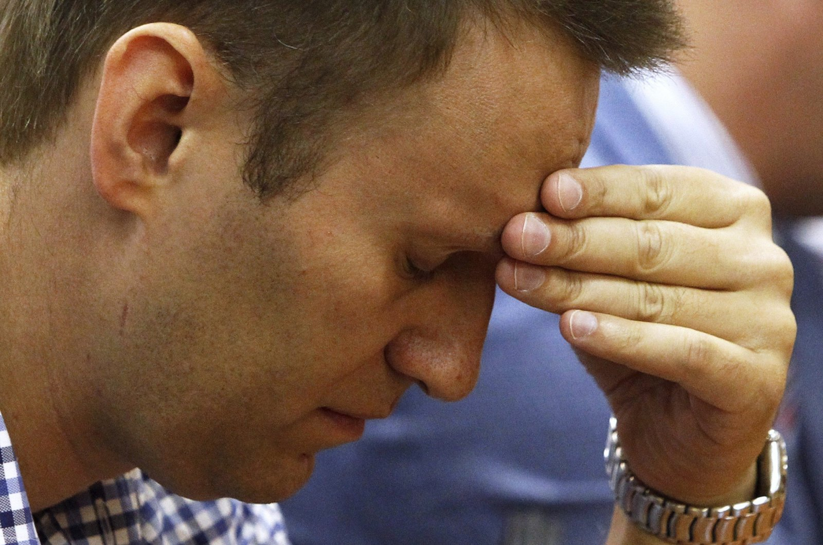 Russian protest leader Alexei Navalny attends a court hearing in Kirov, Russia, July 18, 2013. (Reuters Photo)