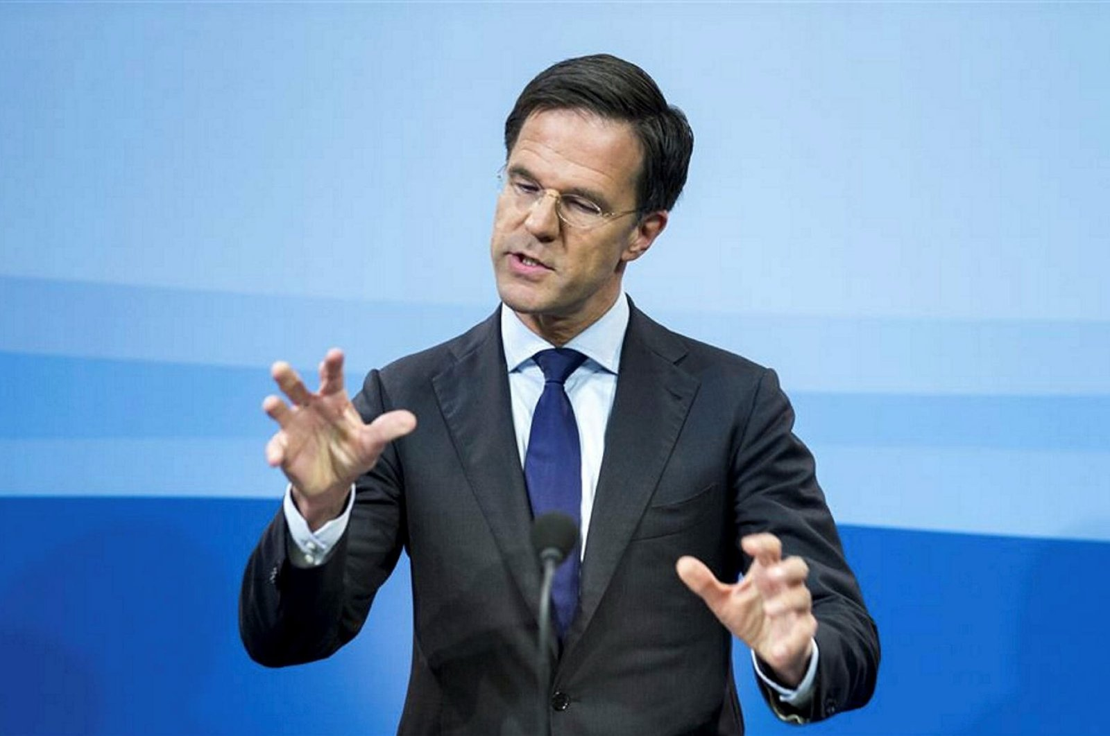 Dutch Prime Minister Mark Rutte during a news conference after a Cabinet meeting in The Hague, Netherlands, Jan. 29, 2016. (AP Photo)